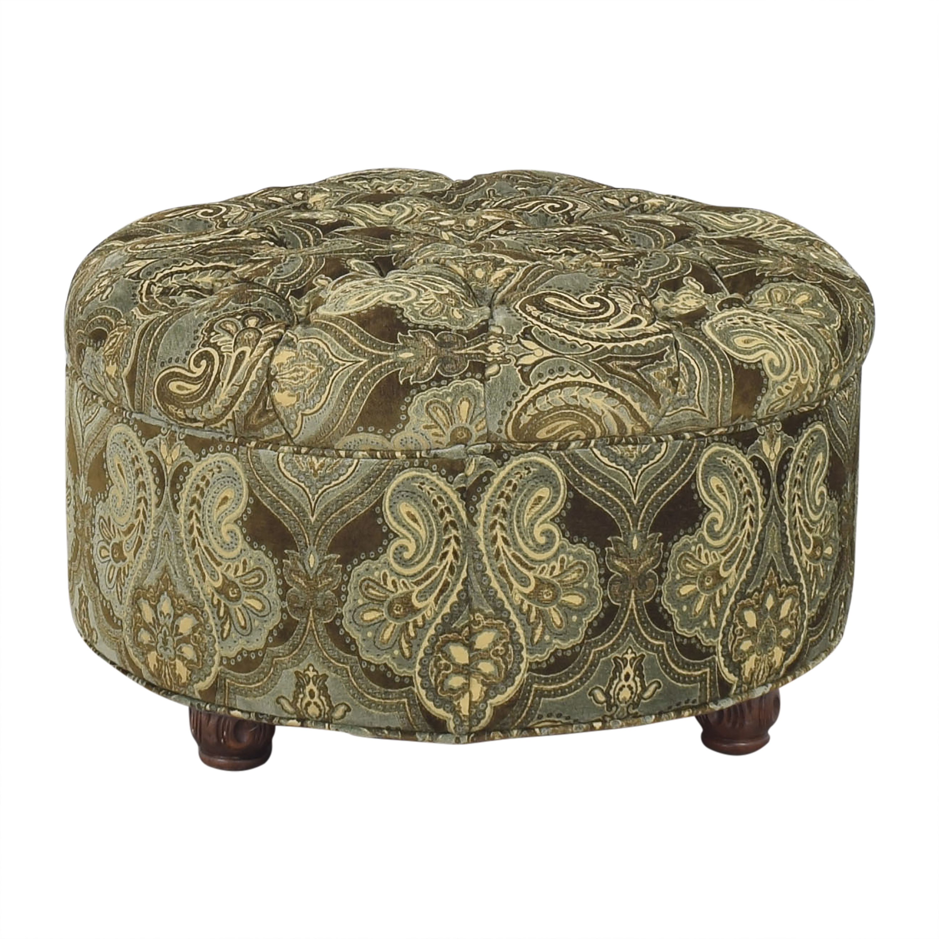 buy Patterned Round Ottoman  Ottomans