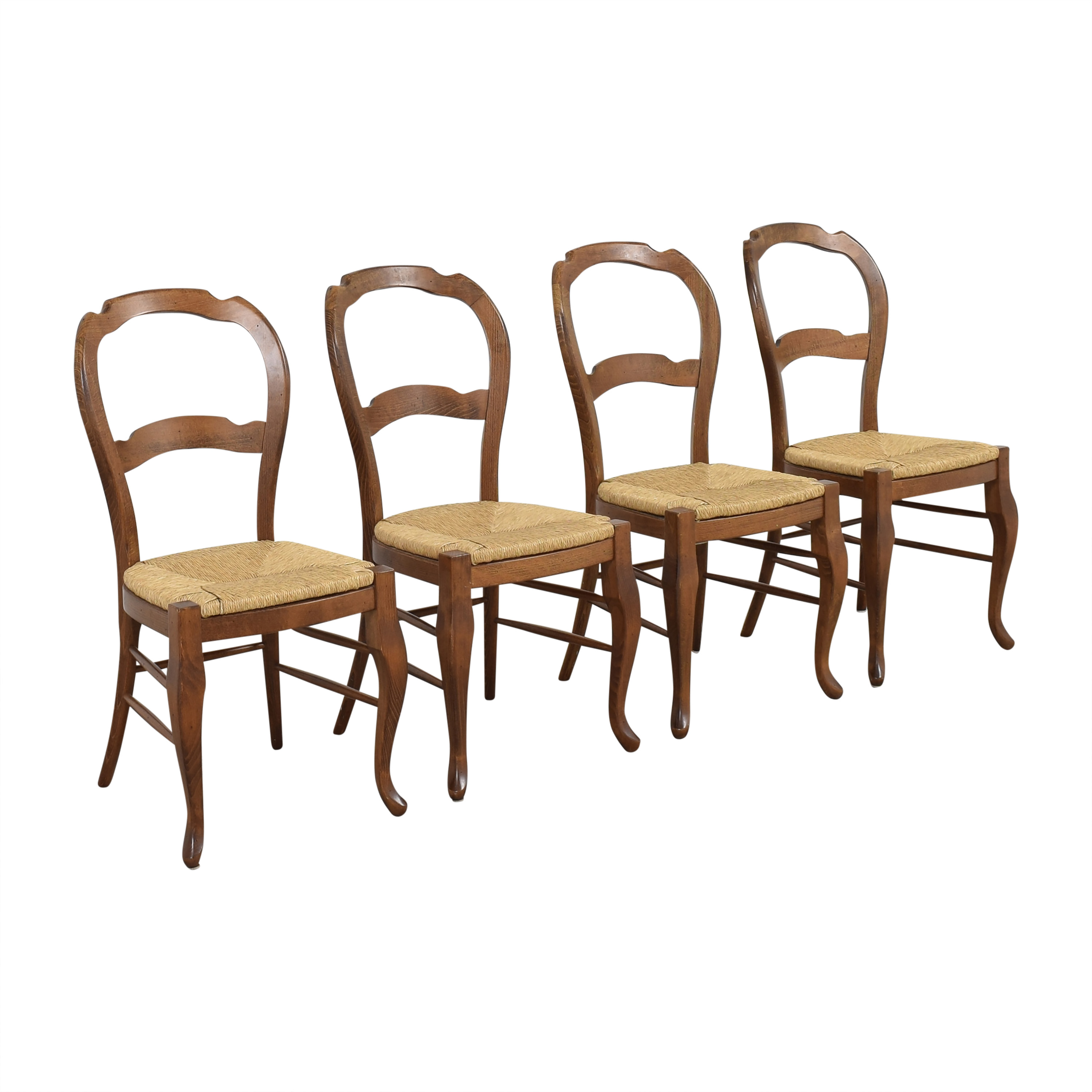 Pottery Barn Pottery Barn Woven Seat Dining Chairs brown