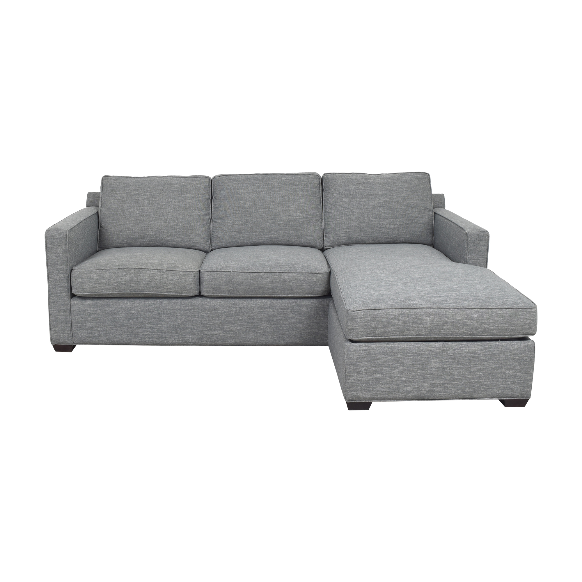 buy Crate and Barrel Sectional Sofa with Chaise Crate & Barrel