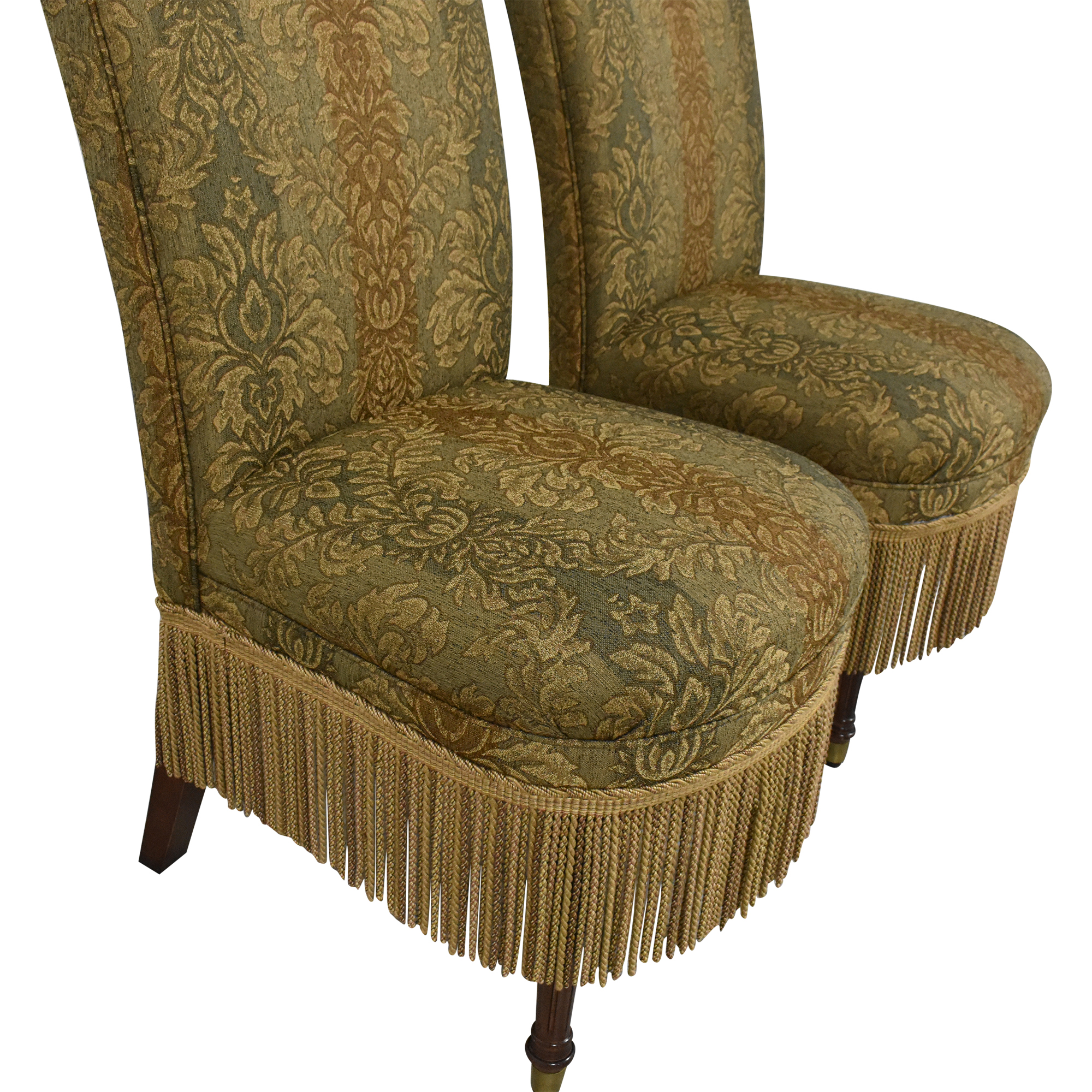 Designmaster Furniture Designmaster Furniture Tasseled Dining Chairs second hand