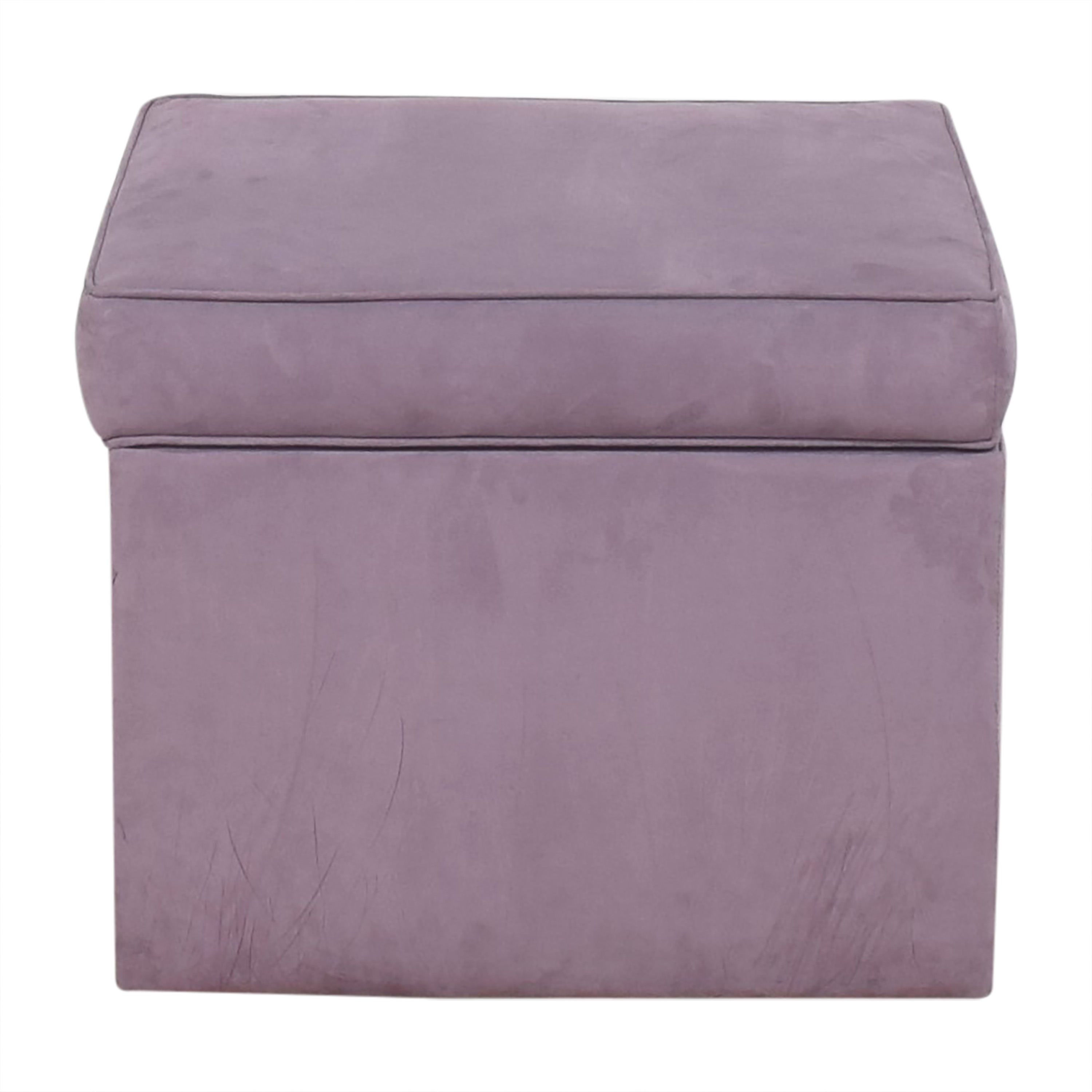 Cox Manufacturing Cox Square Storage Ottoman purple