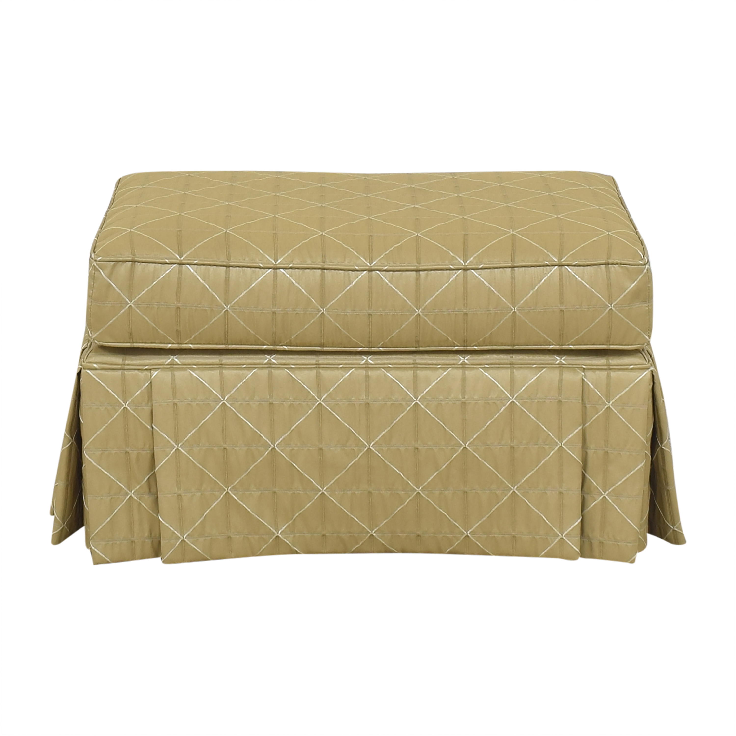 shop CR Laine Skirted Ottoman CR Laine Ottomans
