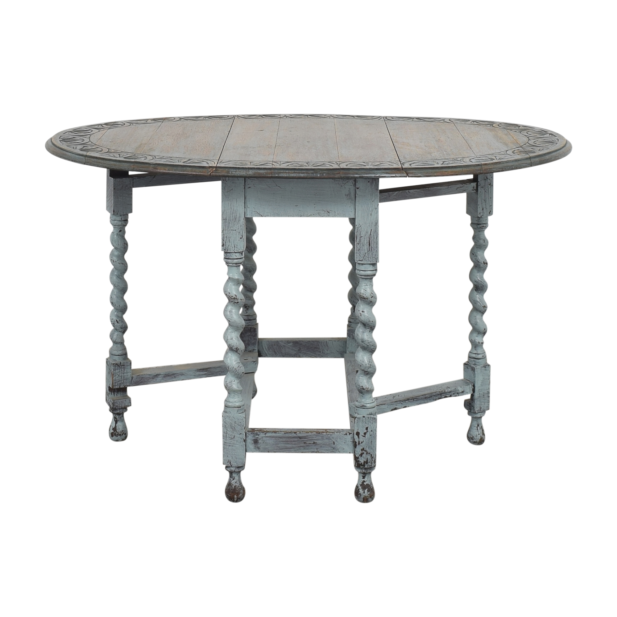 Oval Drop Leaf Table / Tables