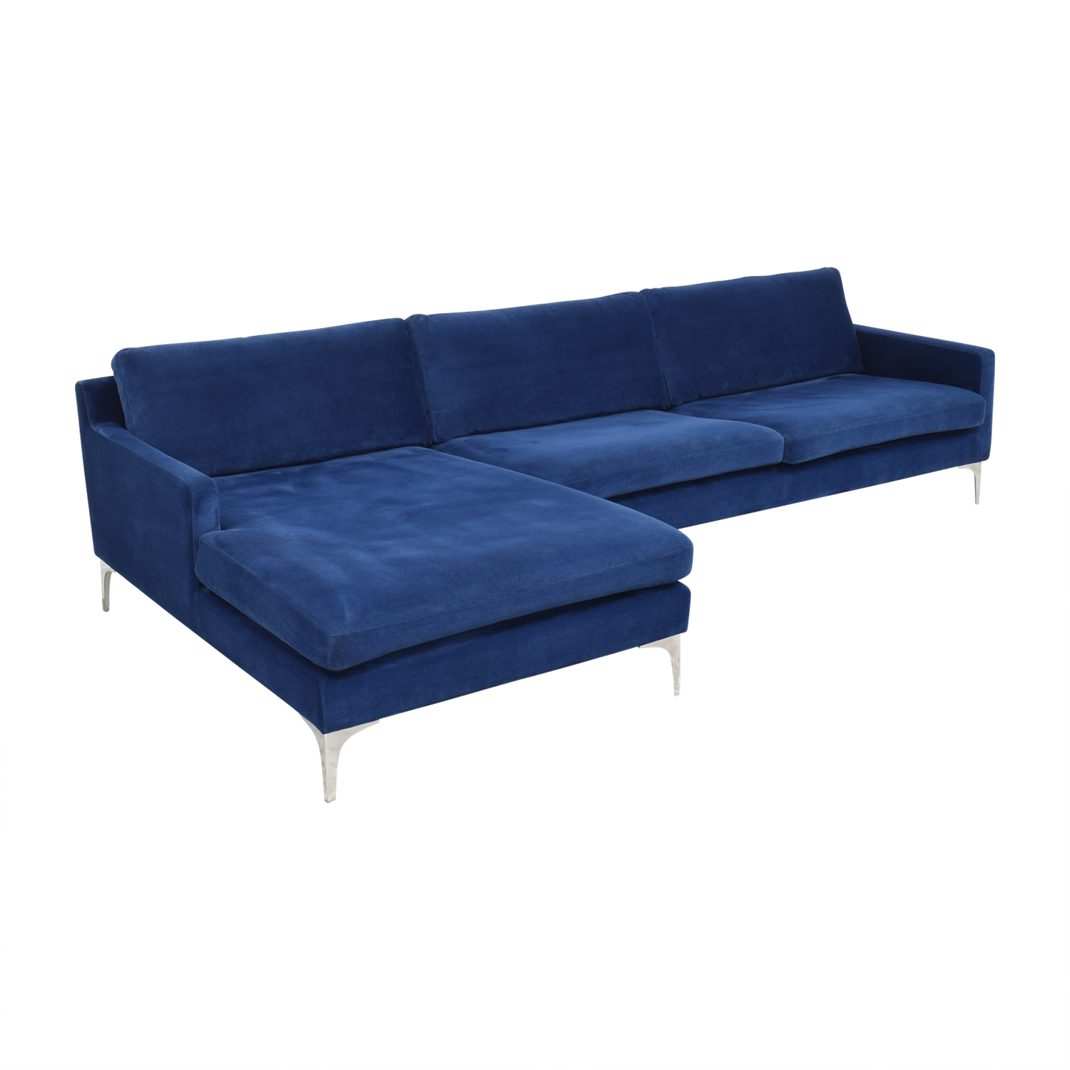 Joss & Main Joss & Main Bridgehampton Chaise Sectional Sofa blue