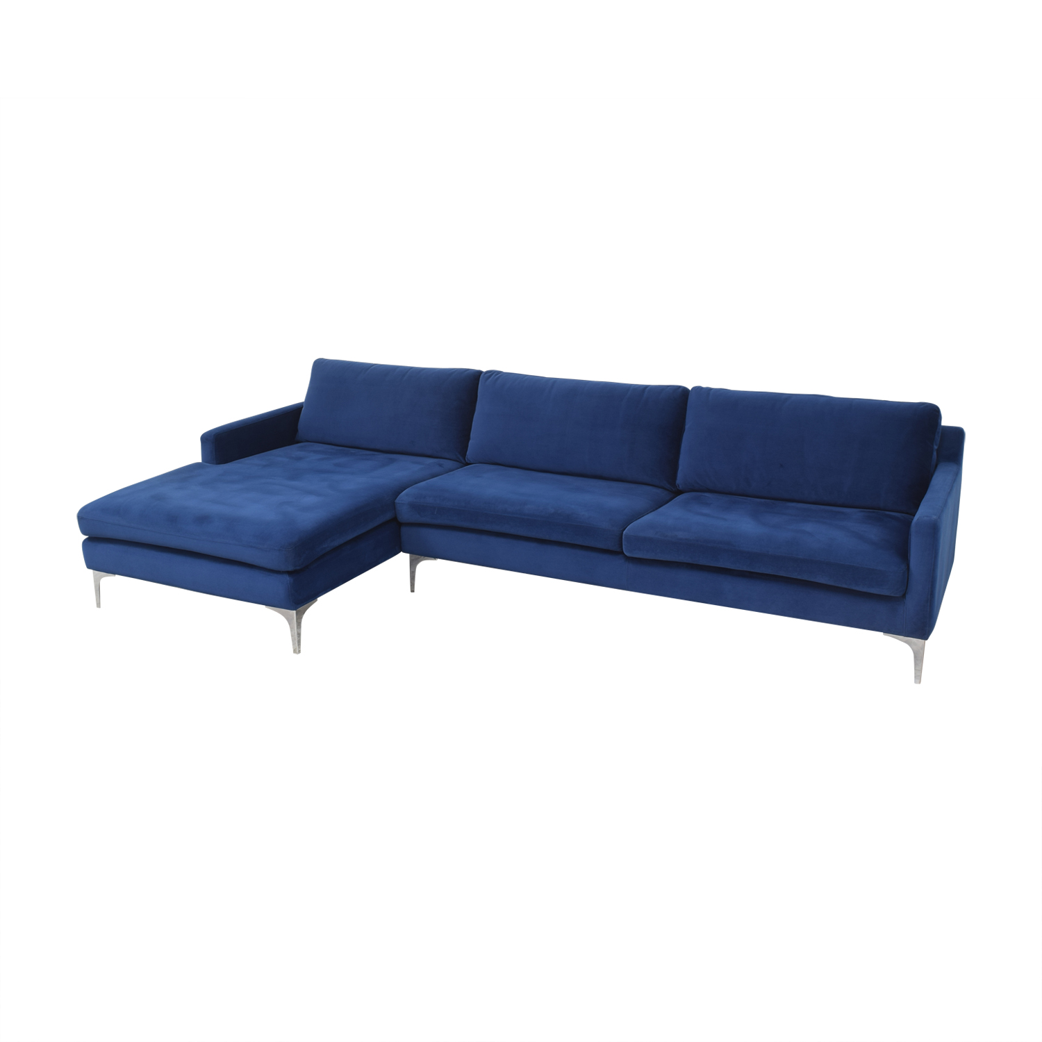 Joss & Main Joss & Main Bridgehampton Chaise Sectional Sofa used