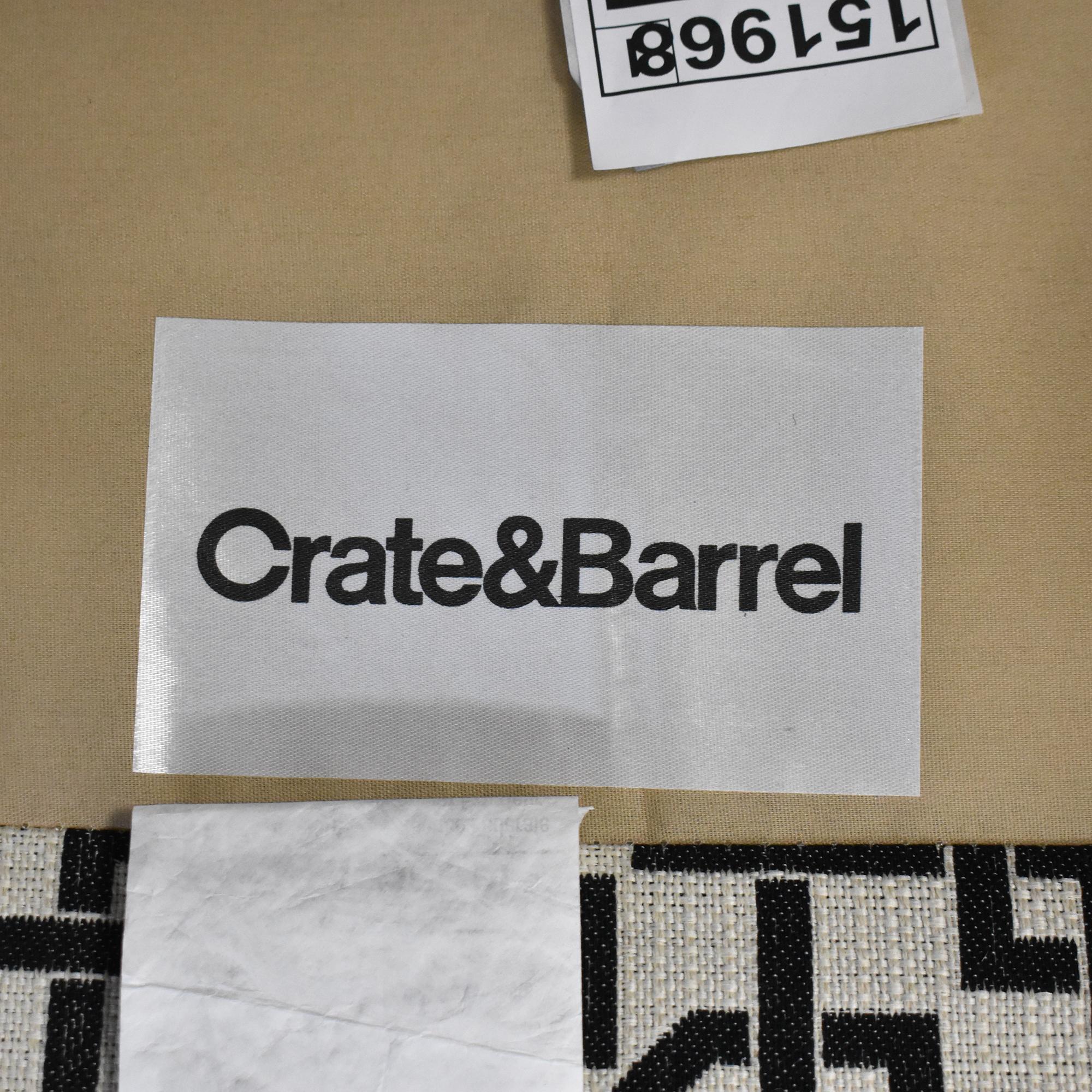Crate & Barrel Geometric Club Chair sale
