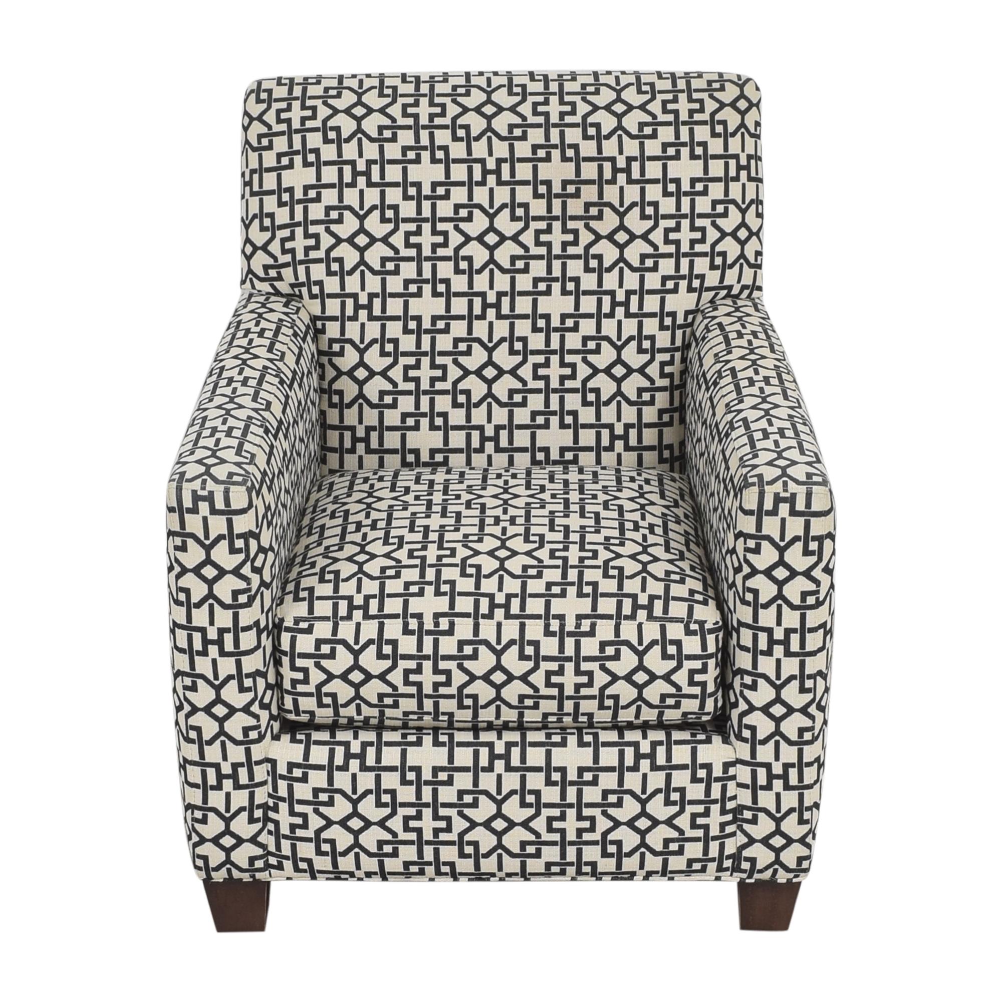buy Crate & Barrel Geometric Club Chair Crate & Barrel Chairs