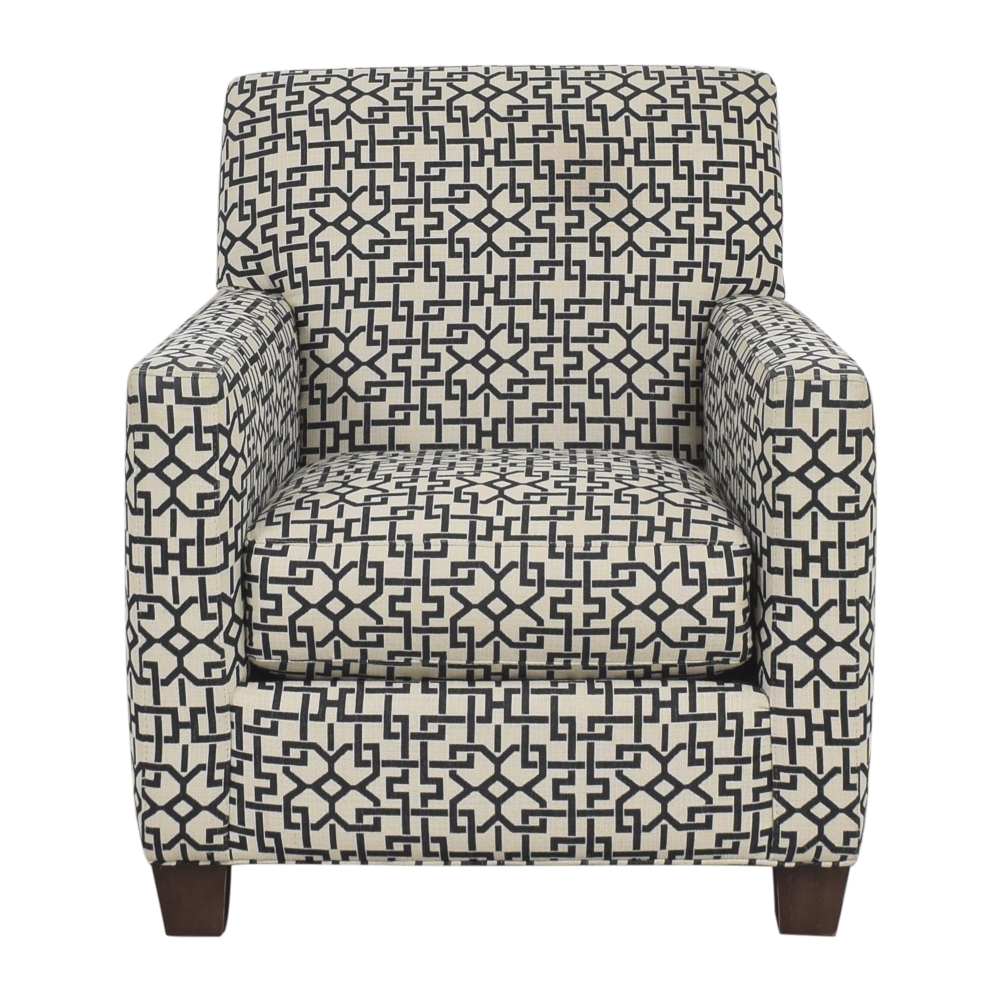 Crate & Barrel Crate & Barrel Geometric Club Chair Accent Chairs
