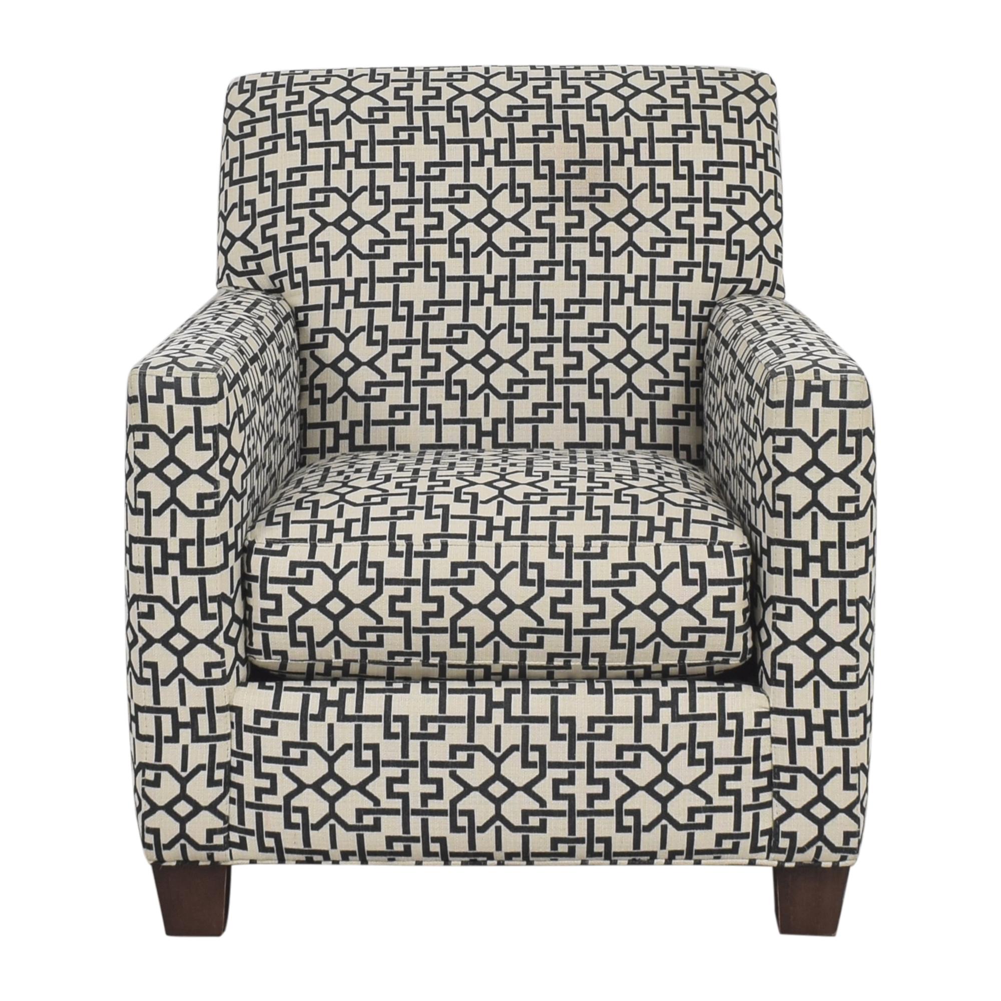 Crate & Barrel Geometric Club Chair Crate & Barrel