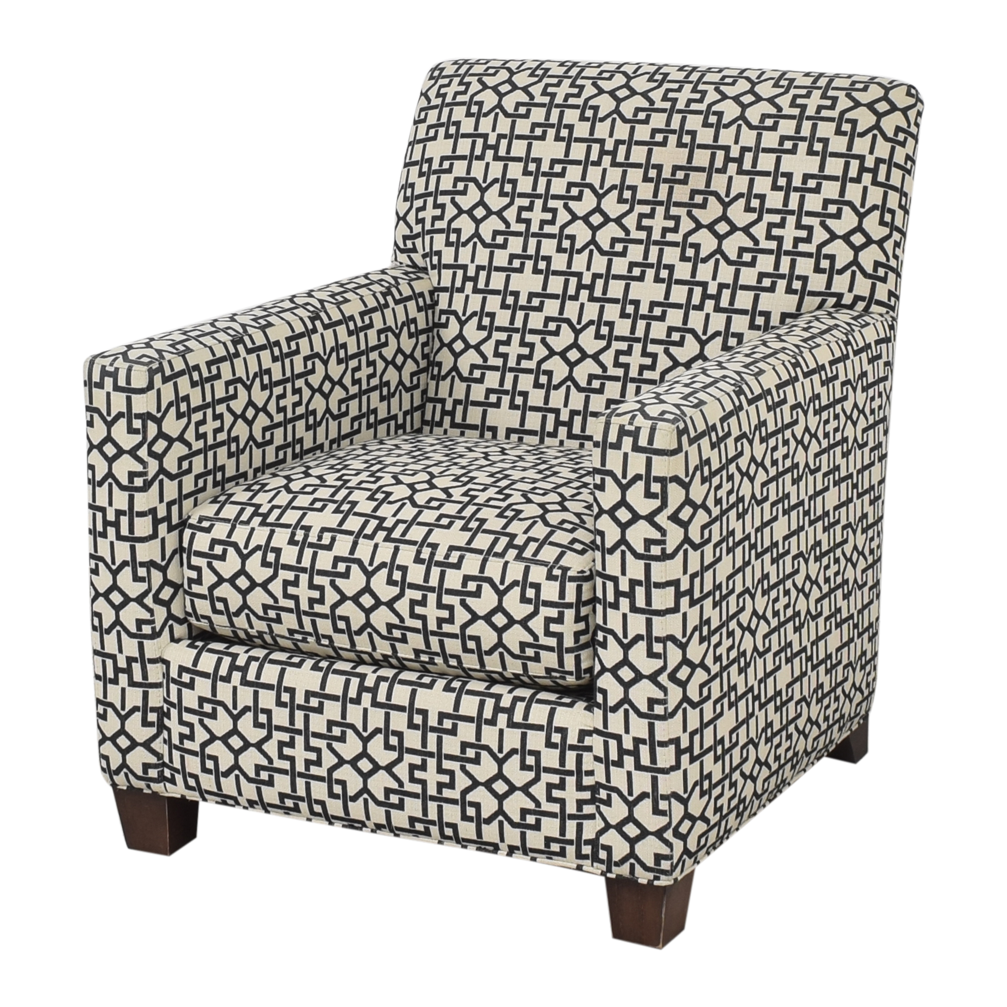buy Crate & Barrel Geometric Club Chair Crate & Barrel Accent Chairs