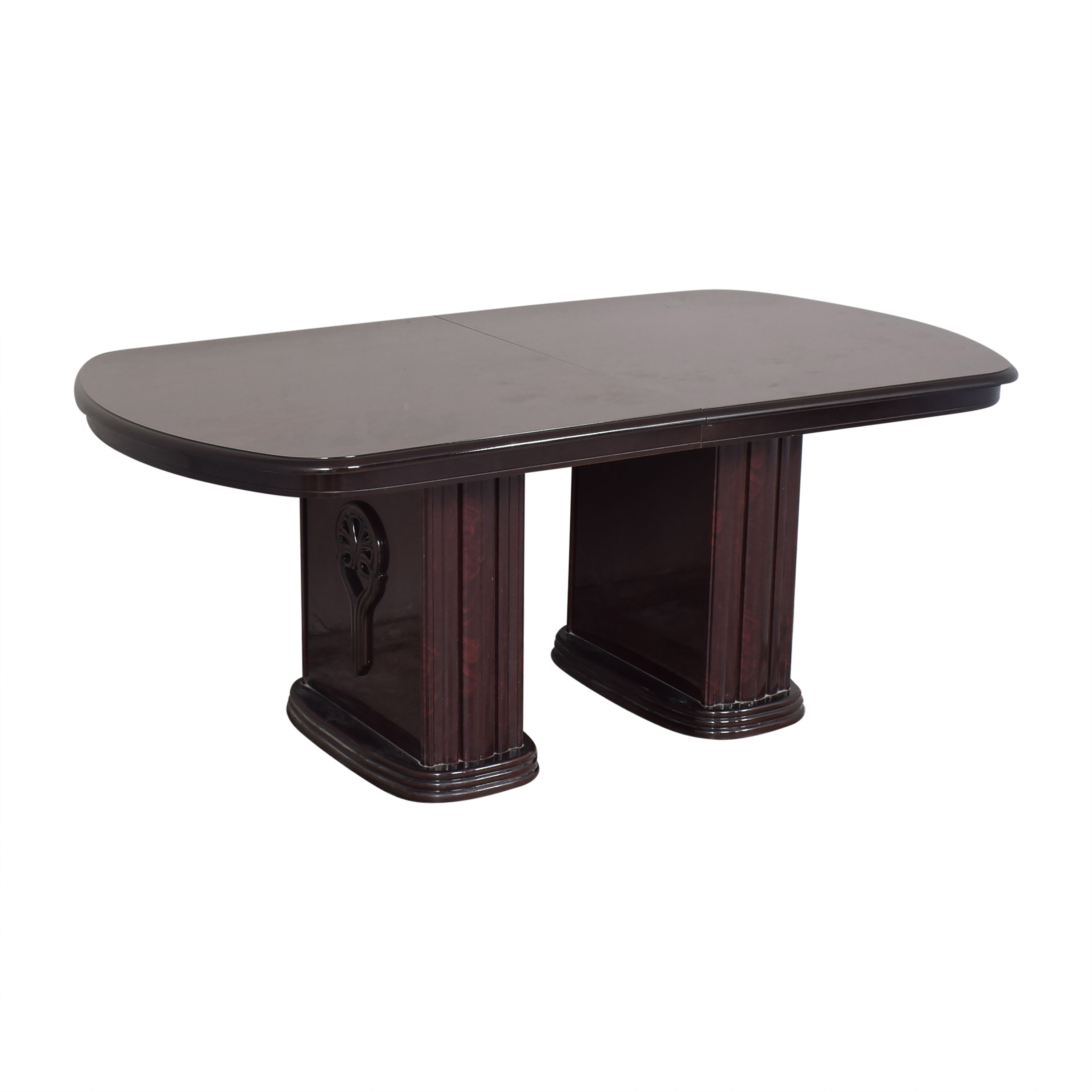 Double Column Base Dining Table second hand
