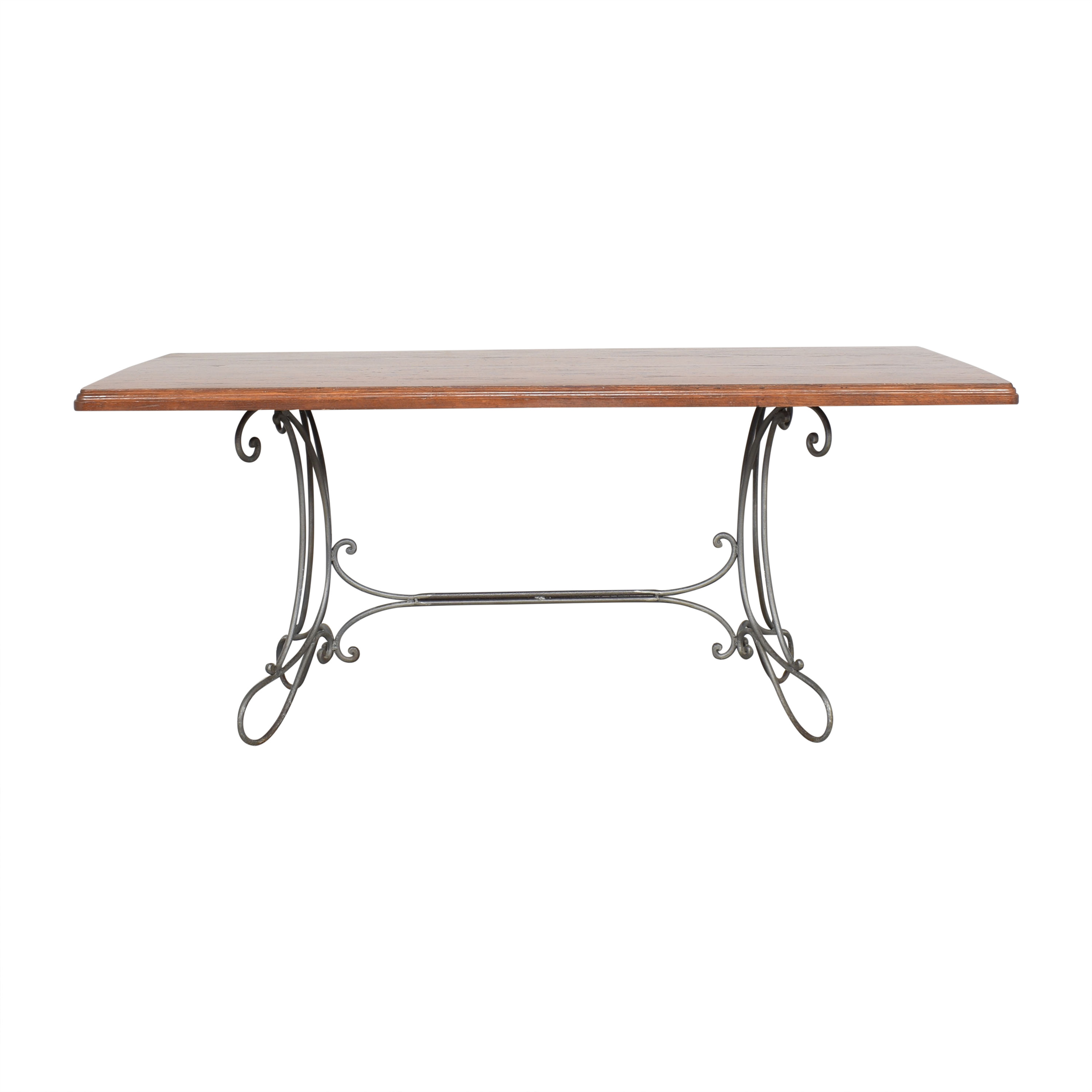 shop  Custom Dining Table with Antique Openwork Base online
