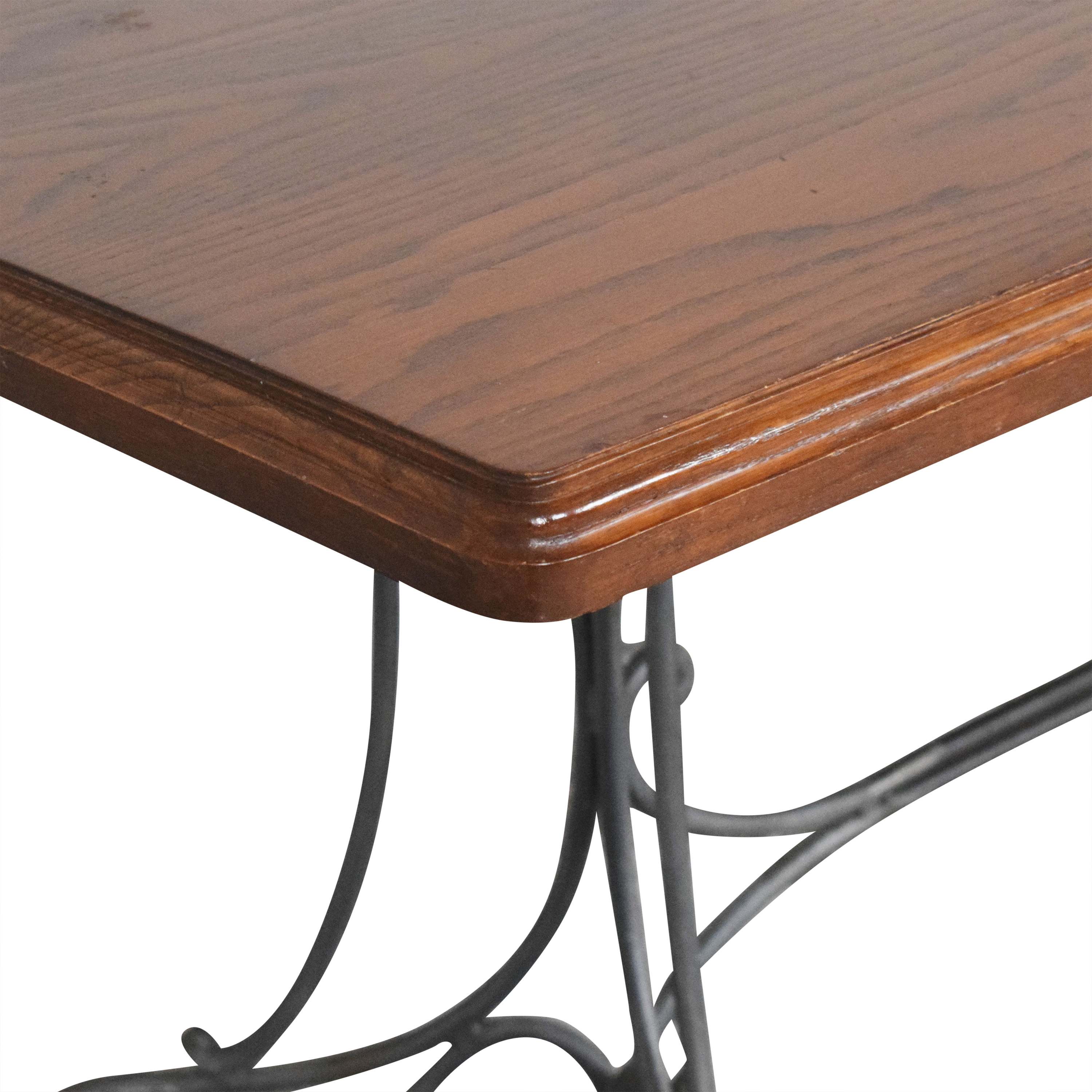 Custom Dining Table with Antique Openwork Base ma
