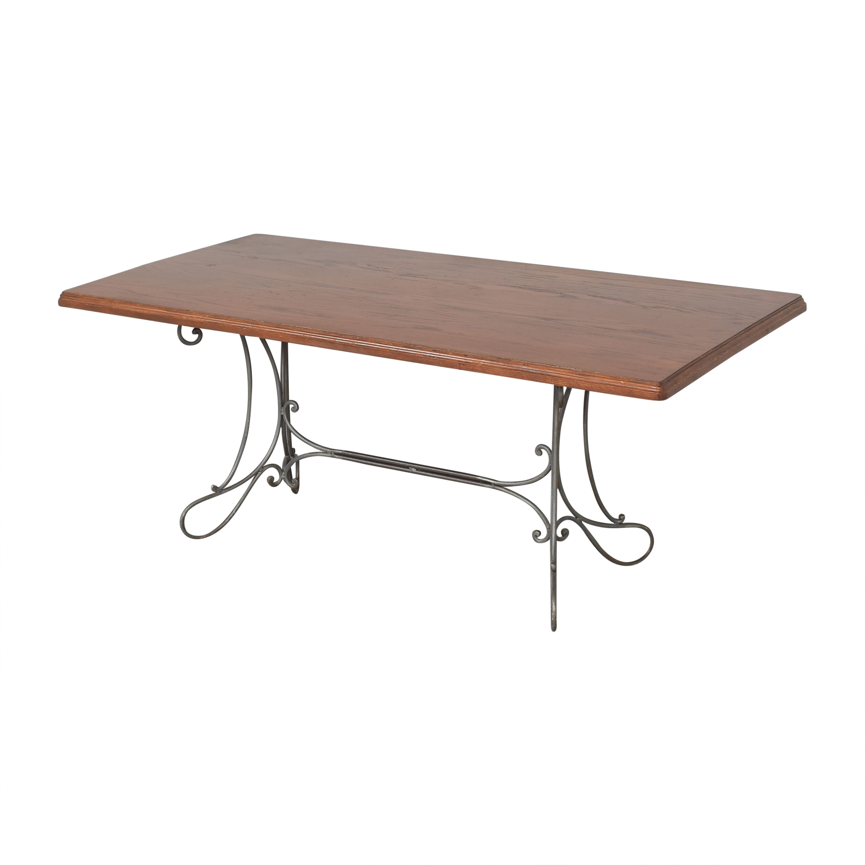 Custom Dining Table with Antique Openwork Base price