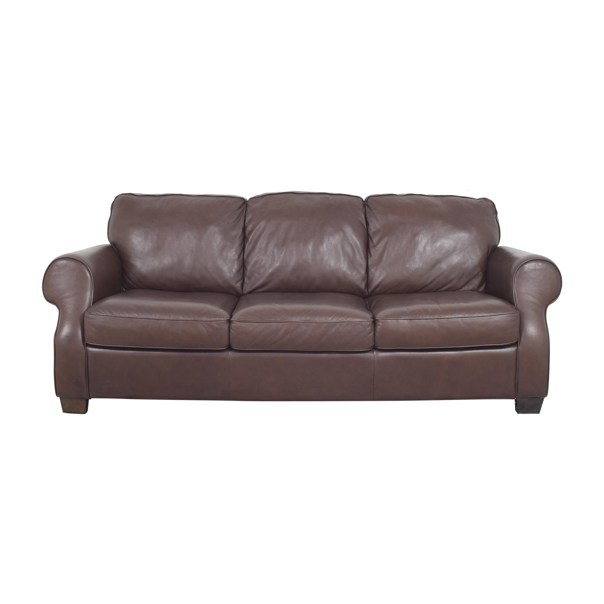 Natuzzi Natuzzi Editions Three Cushion Roll Arm Sofa second hand