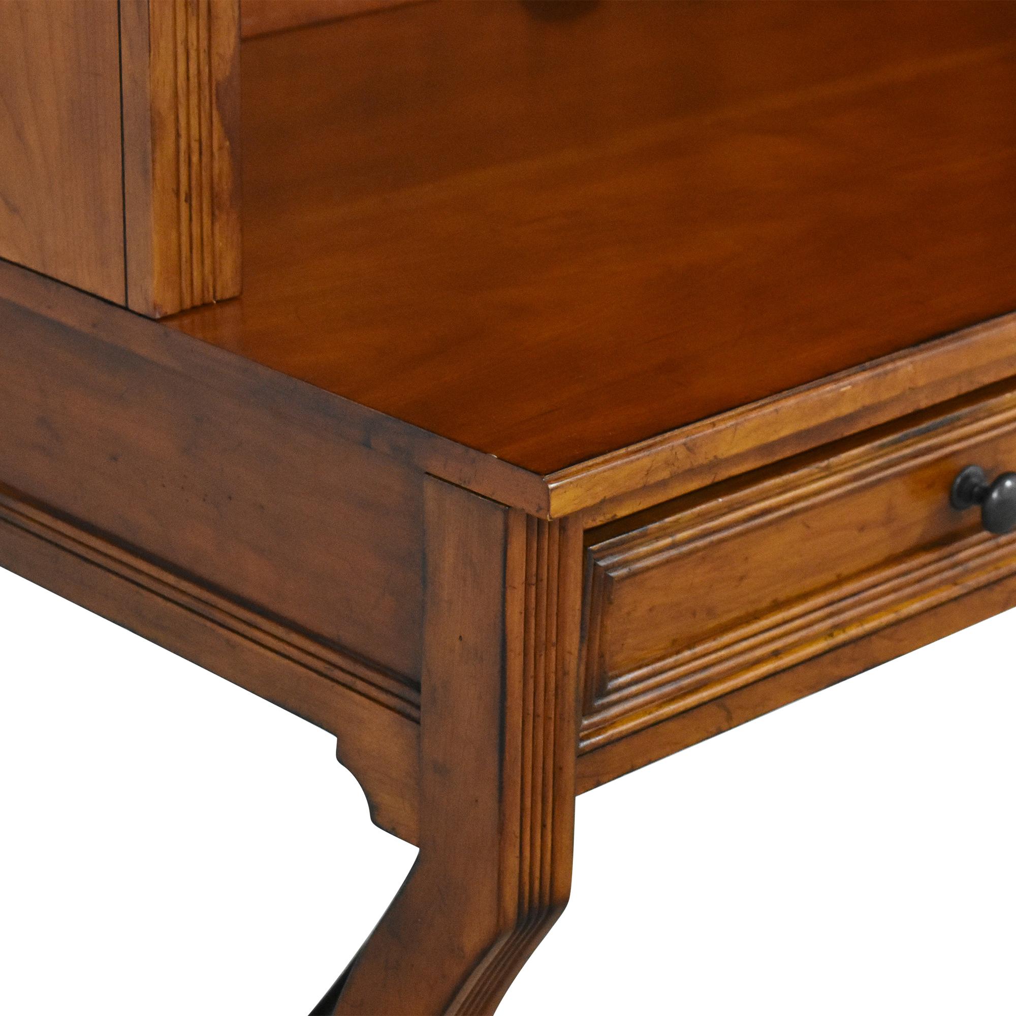 buy Sligh Furniture Single Drawer Desk with Hutch  Sligh Furniture Tables