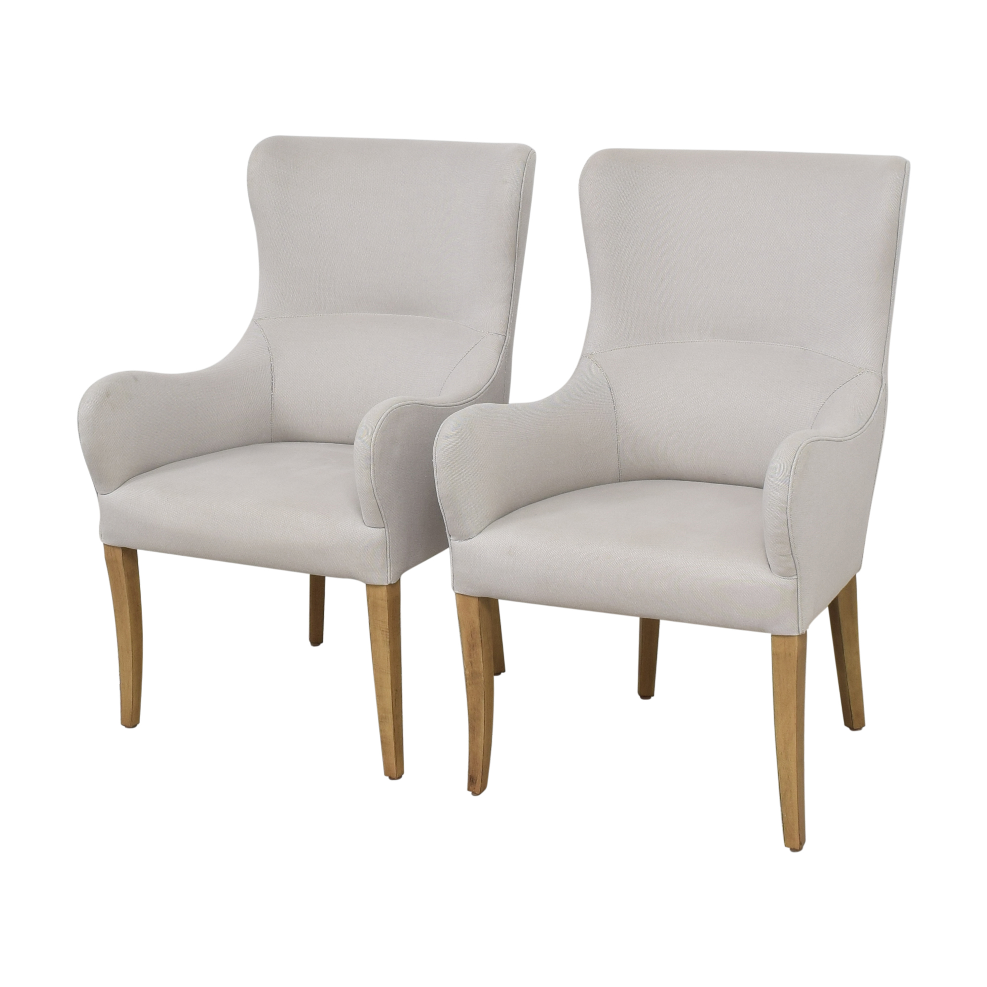 59 Off Lillian August Lillian August Couture Upholstered Dining Arm Chairs Chairs