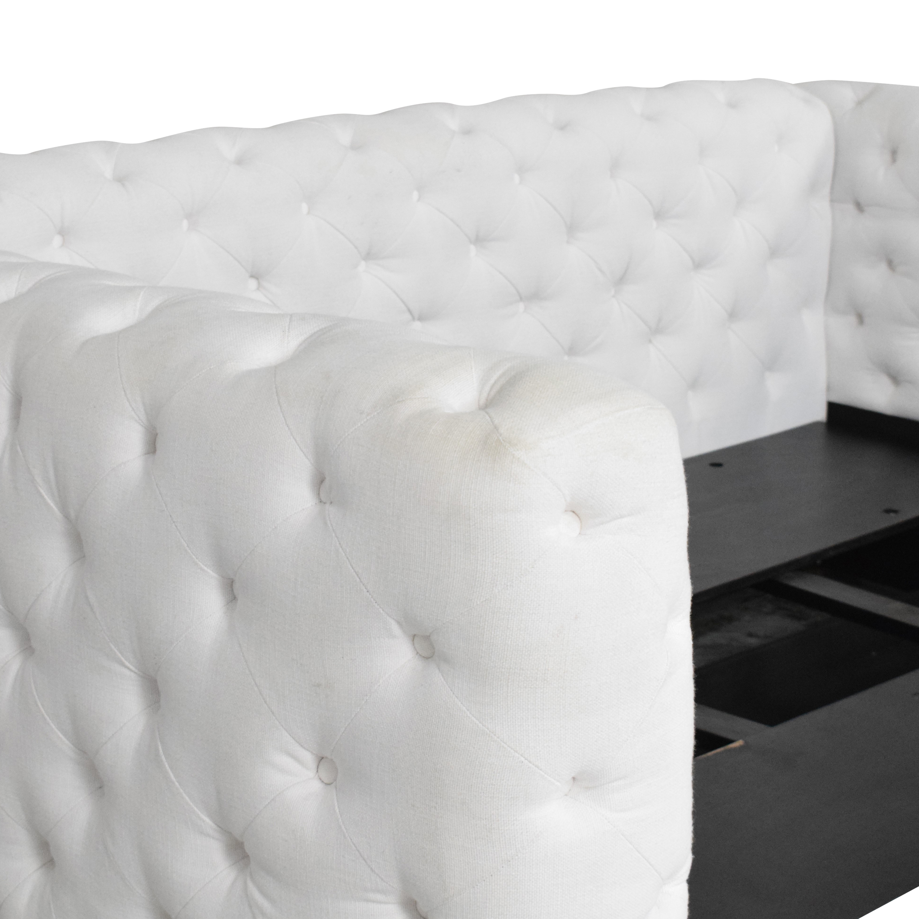Restoration Hardware RH Teen Tribeca Tufted Full Daybed with Trundle ct