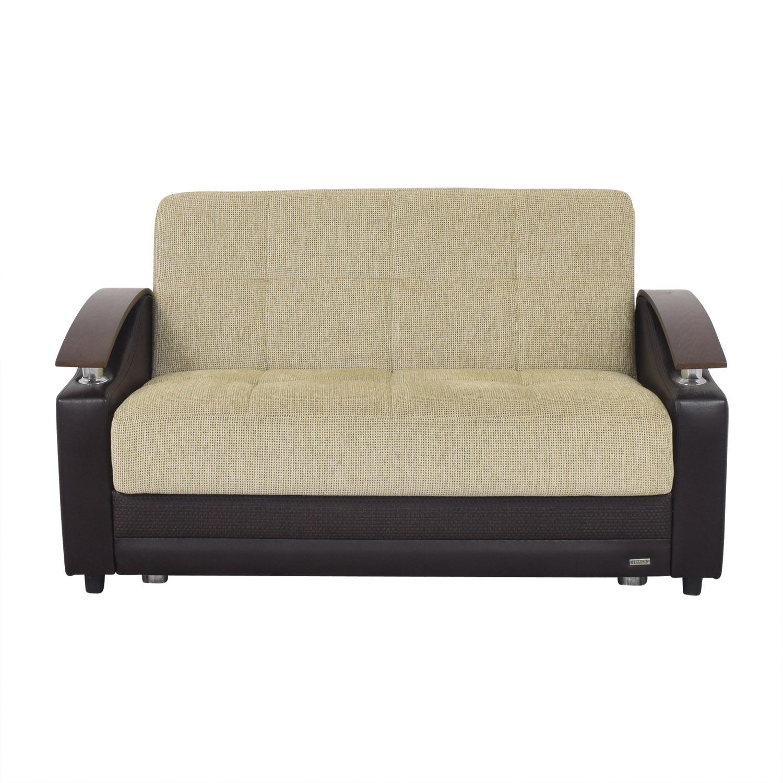 Bellona Bellona Luna Loveseat Sleeper Sofa beige & dark brown