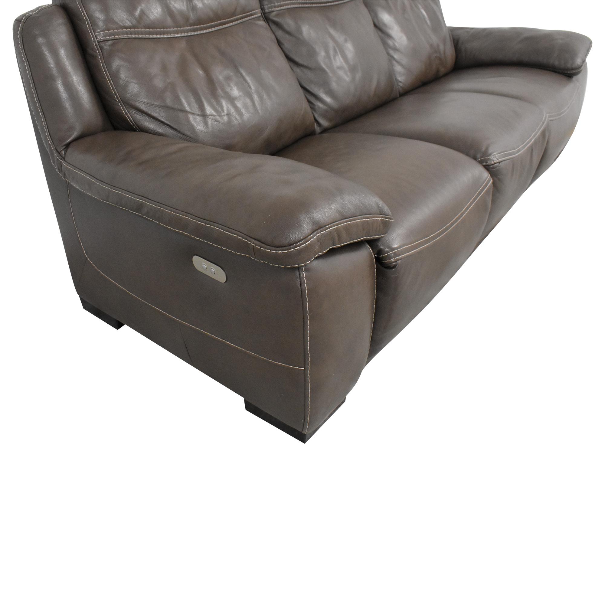 Natuzzi Natuzzi Three Cushion Reclining Sofa on sale