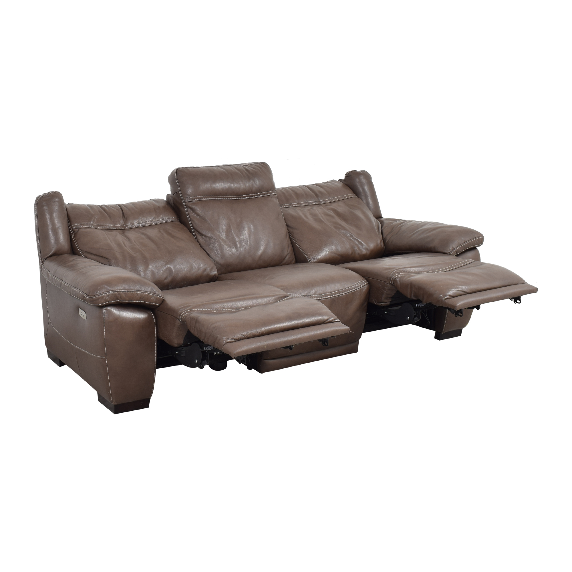 Natuzzi Natuzzi Three Cushion Reclining Sofa ct
