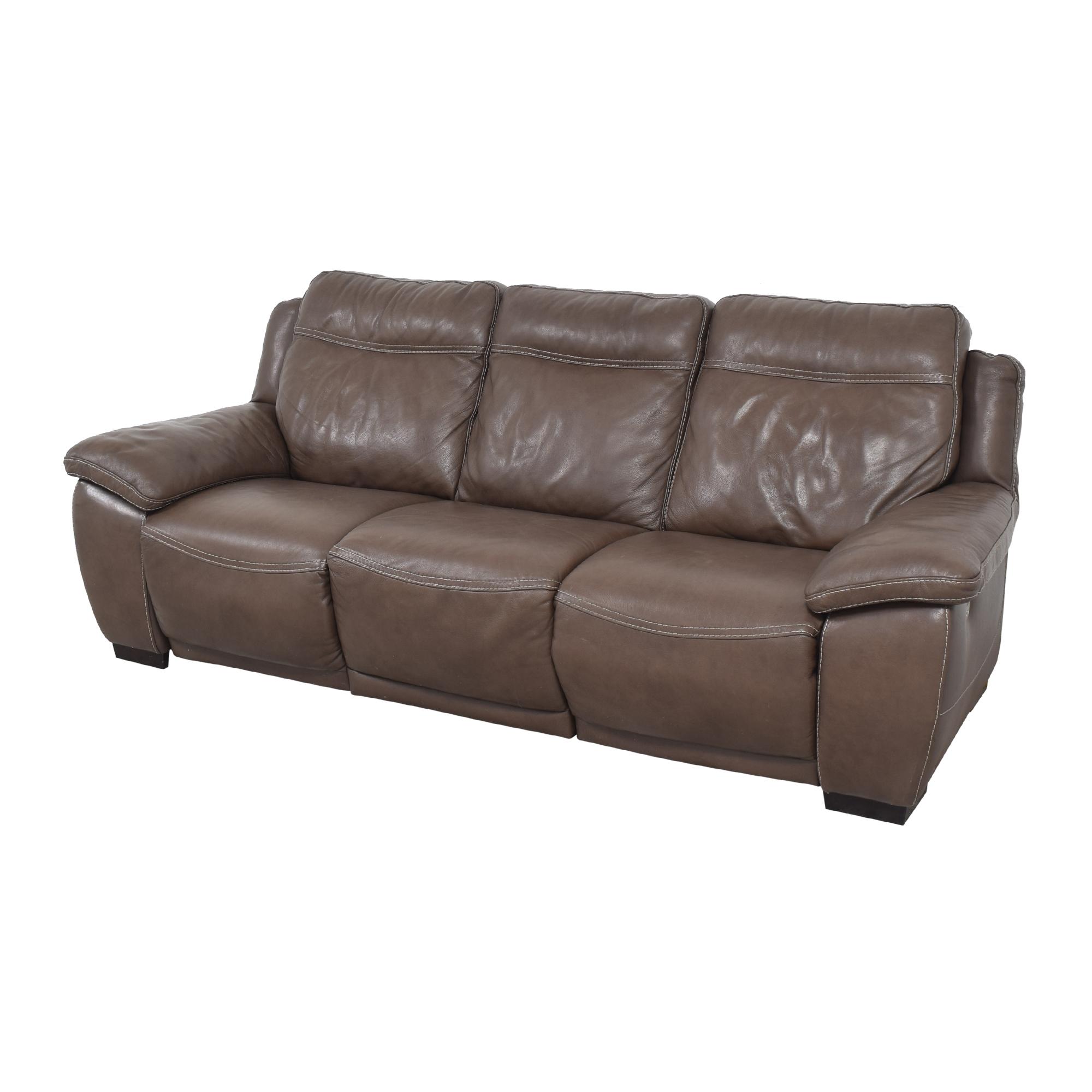 buy Natuzzi Three Cushion Reclining Sofa Natuzzi