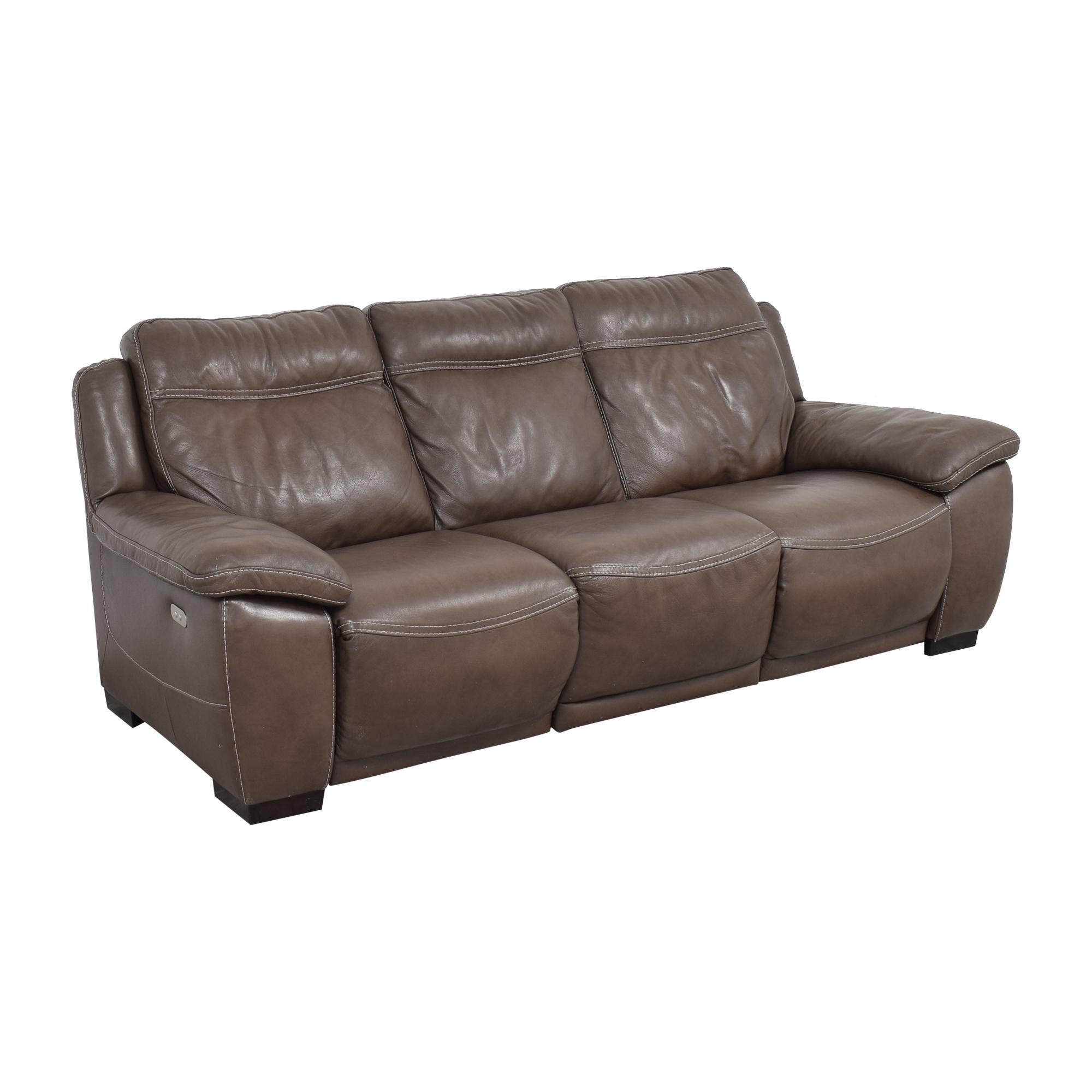 Natuzzi Natuzzi Three Cushion Reclining Sofa ma
