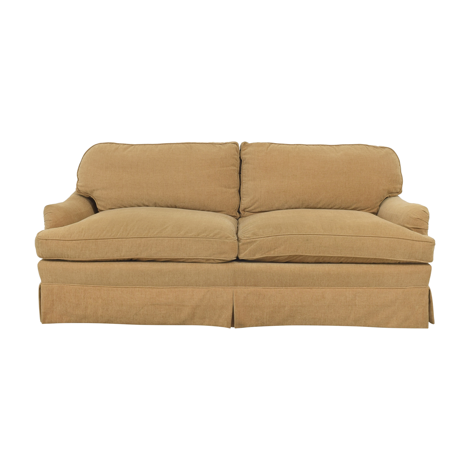 Greenbaum Interiors Greenbaum Interiors Two Cushion Skirted Sofa nj
