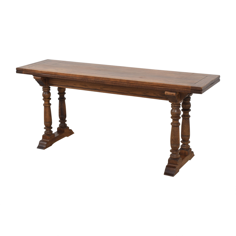 shop Ethan Allen Convertible Console Dining Table Ethan Allen Tables