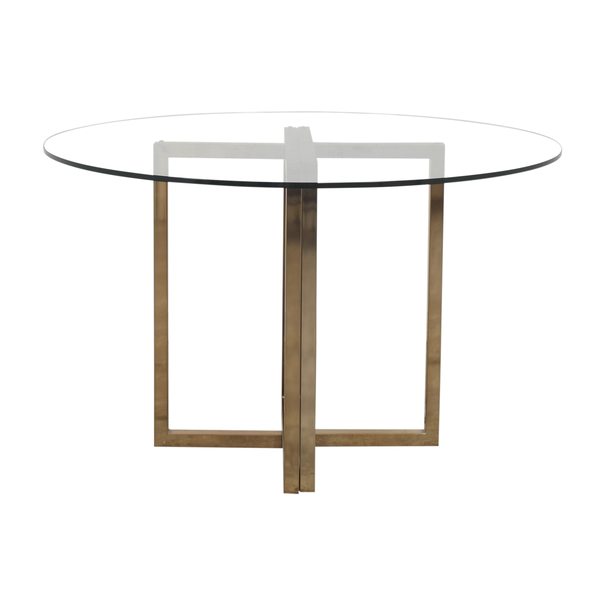 CB2 CB2 Silverado Round Transparent Dining Table used
