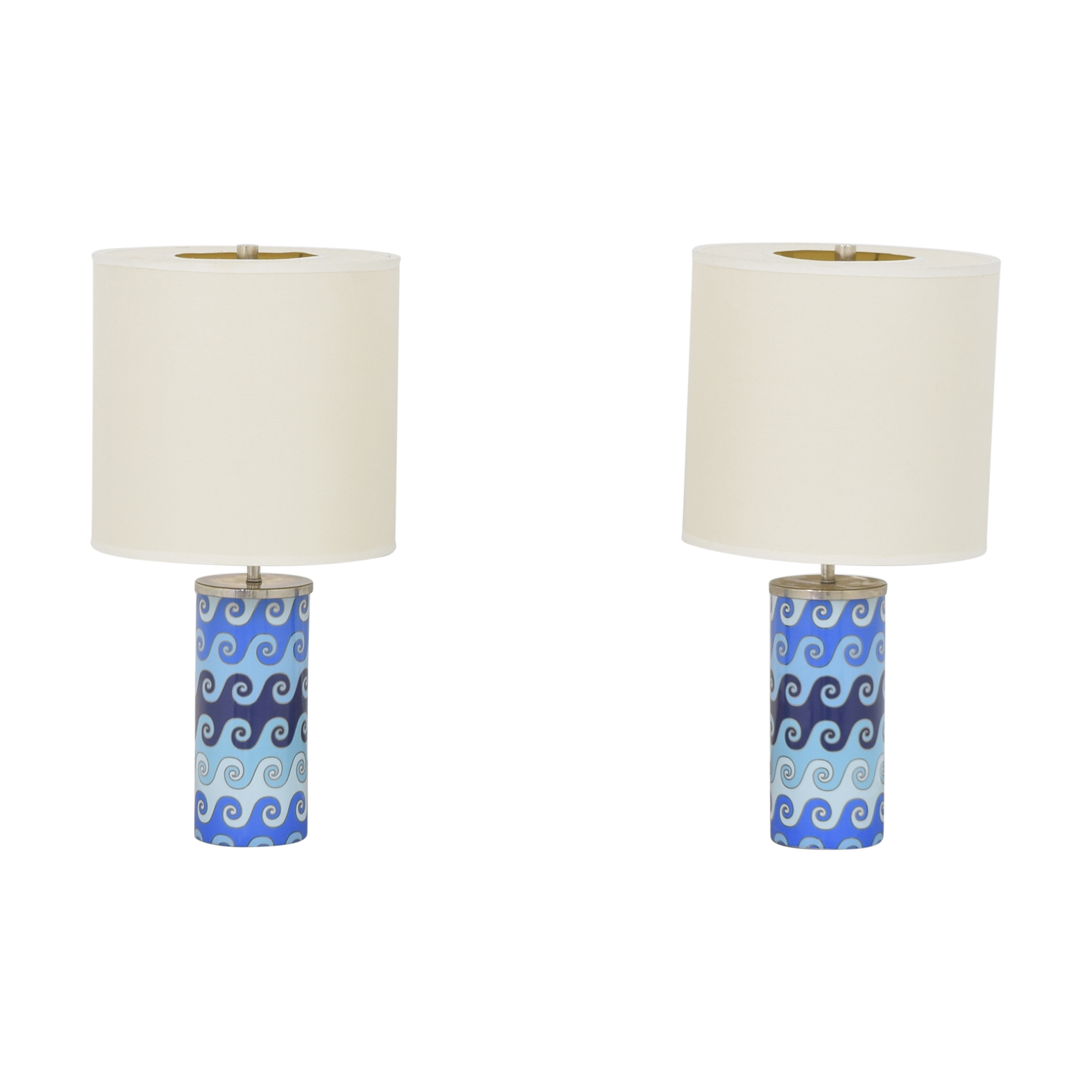 Jonathan Adler Jonathan Adler Carnaby Waves Table Lamps Lamps