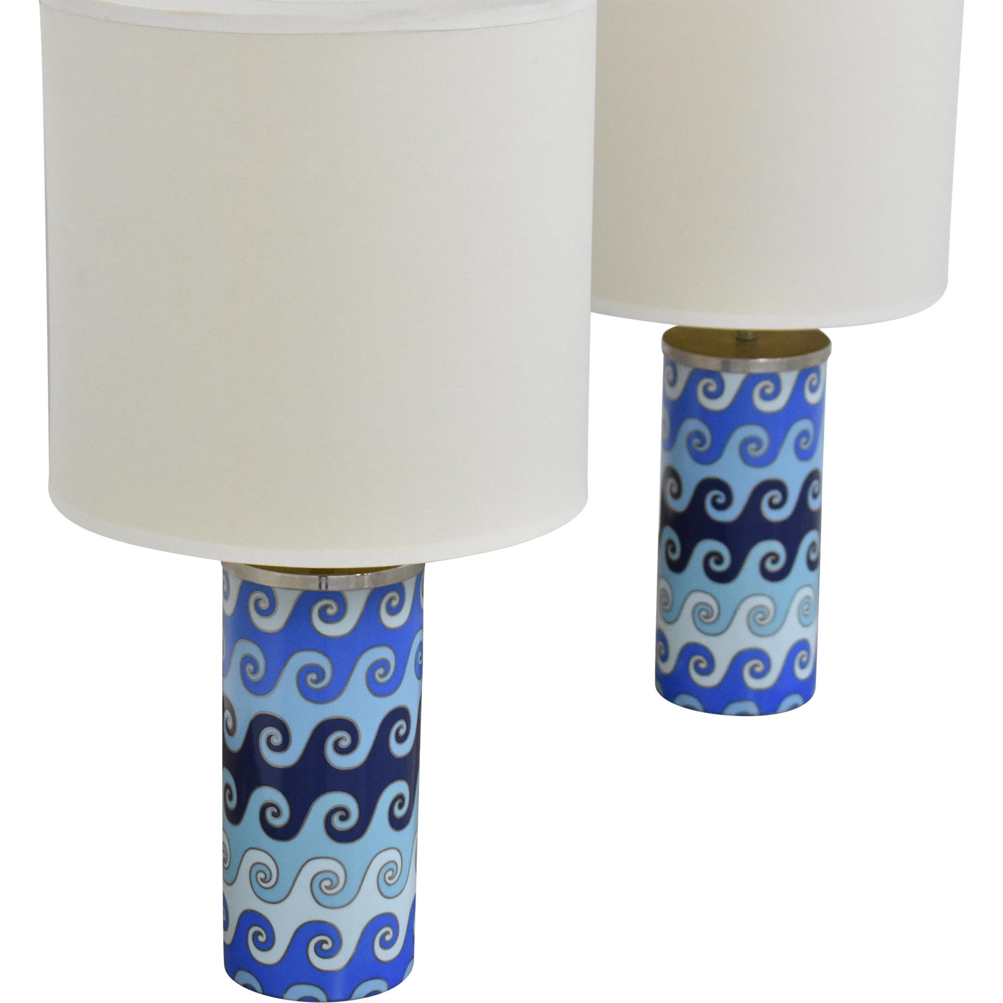 buy Jonathan Adler Carnaby Waves Table Lamps Jonathan Adler Lamps
