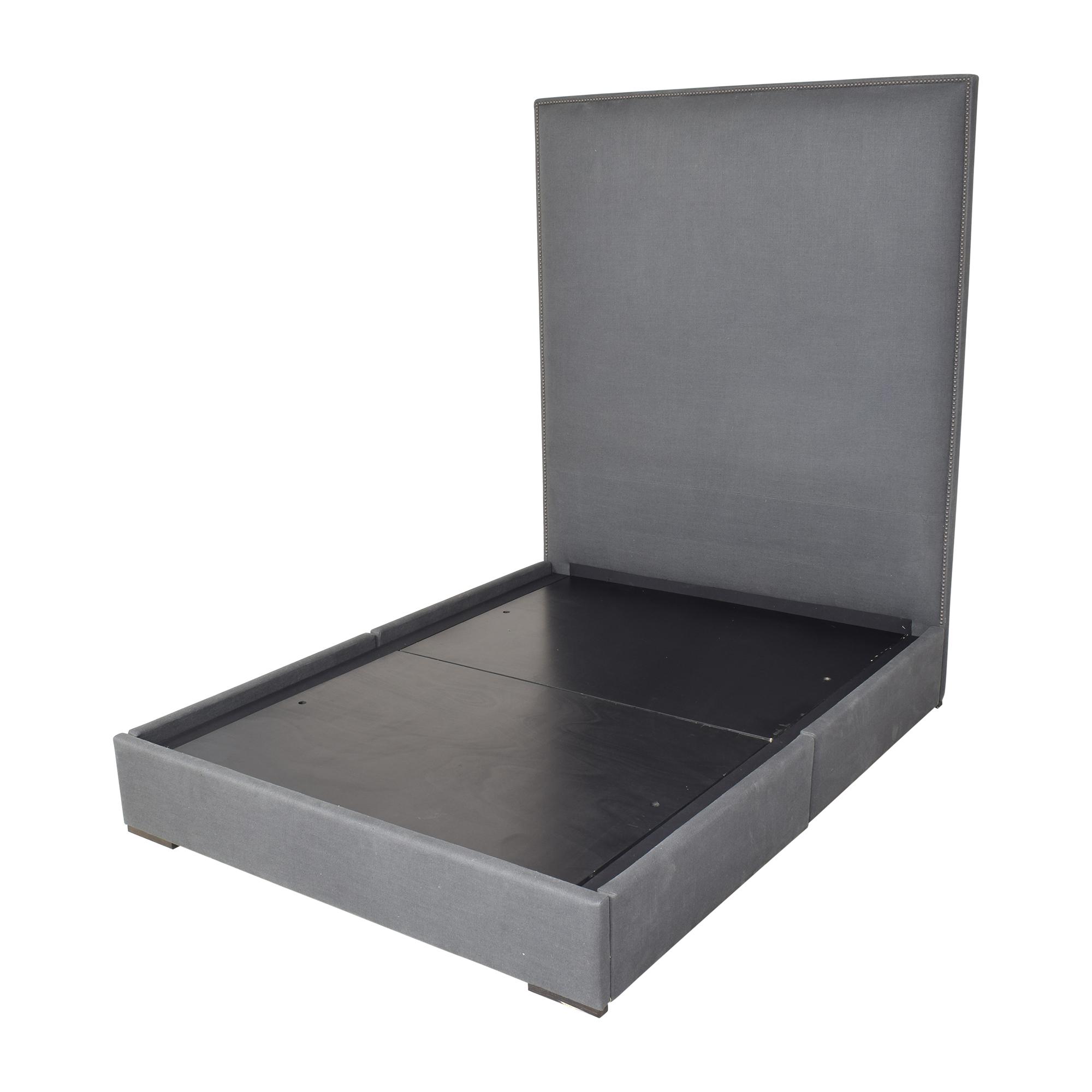 buy Restoration Hardware Lawson Panel Nontufted Storage Bed with Nailheads Restoration Hardware Beds