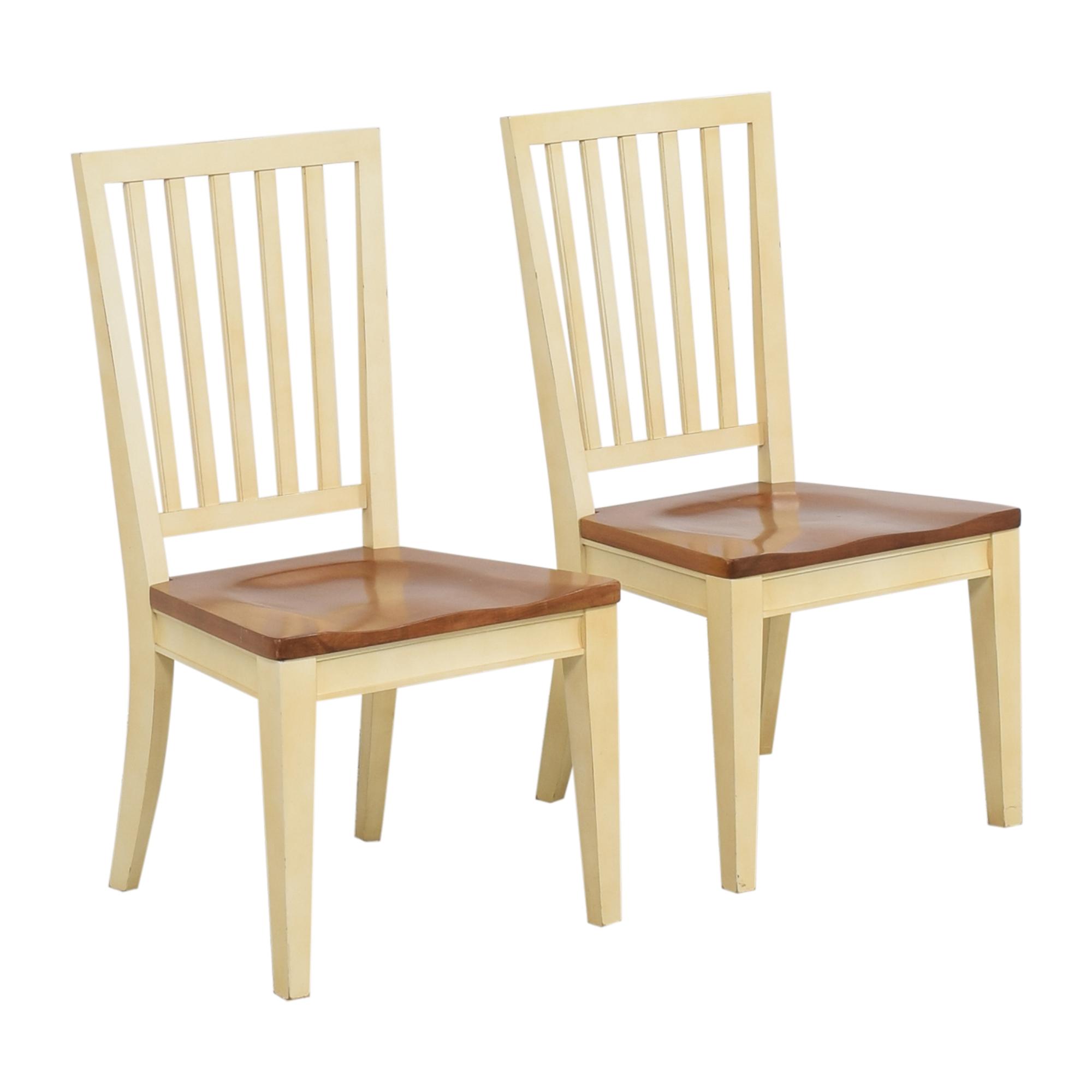 Ethan Allen Ethan Allen Dining Chairs brown, cream