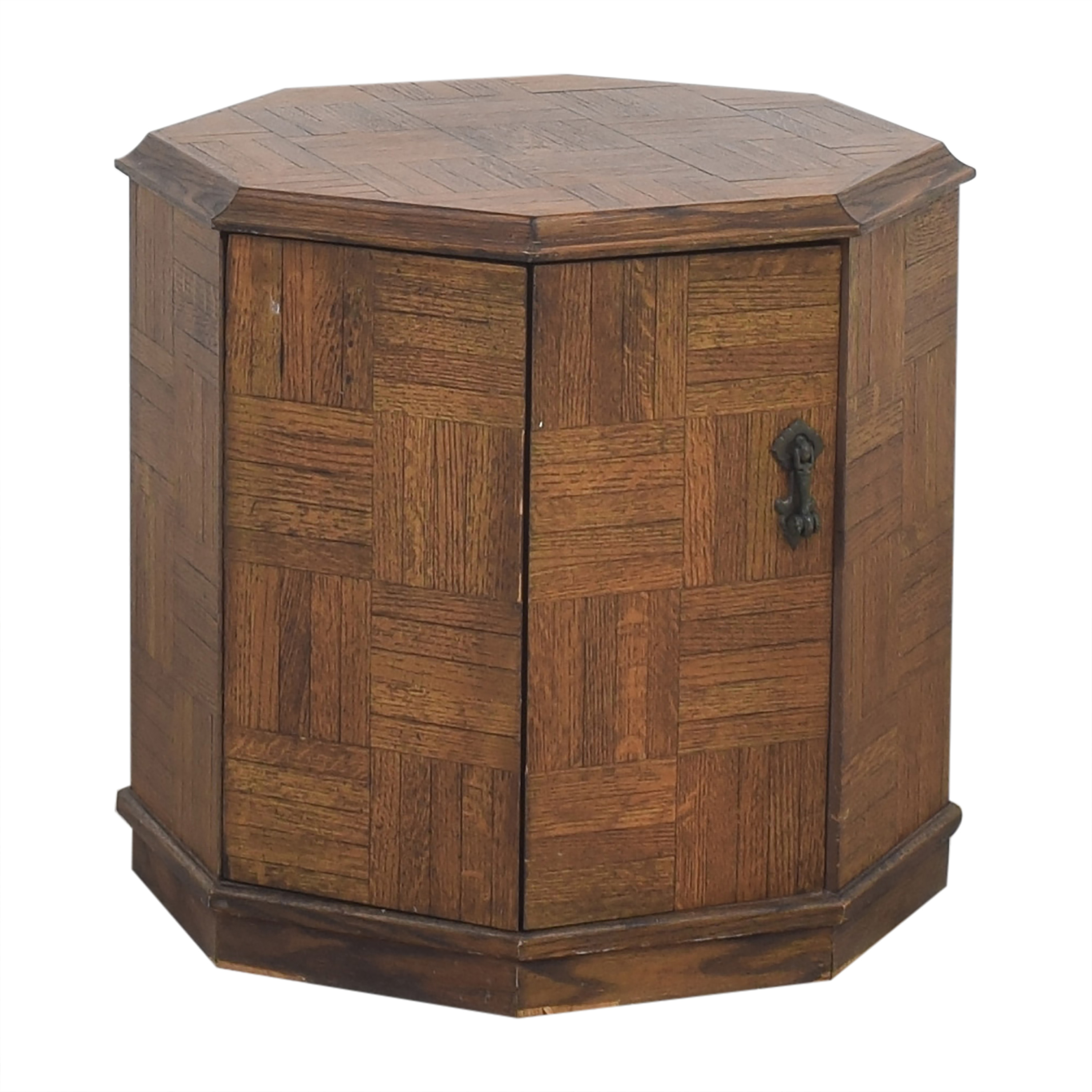 Octagonal Storage End Table / Tables