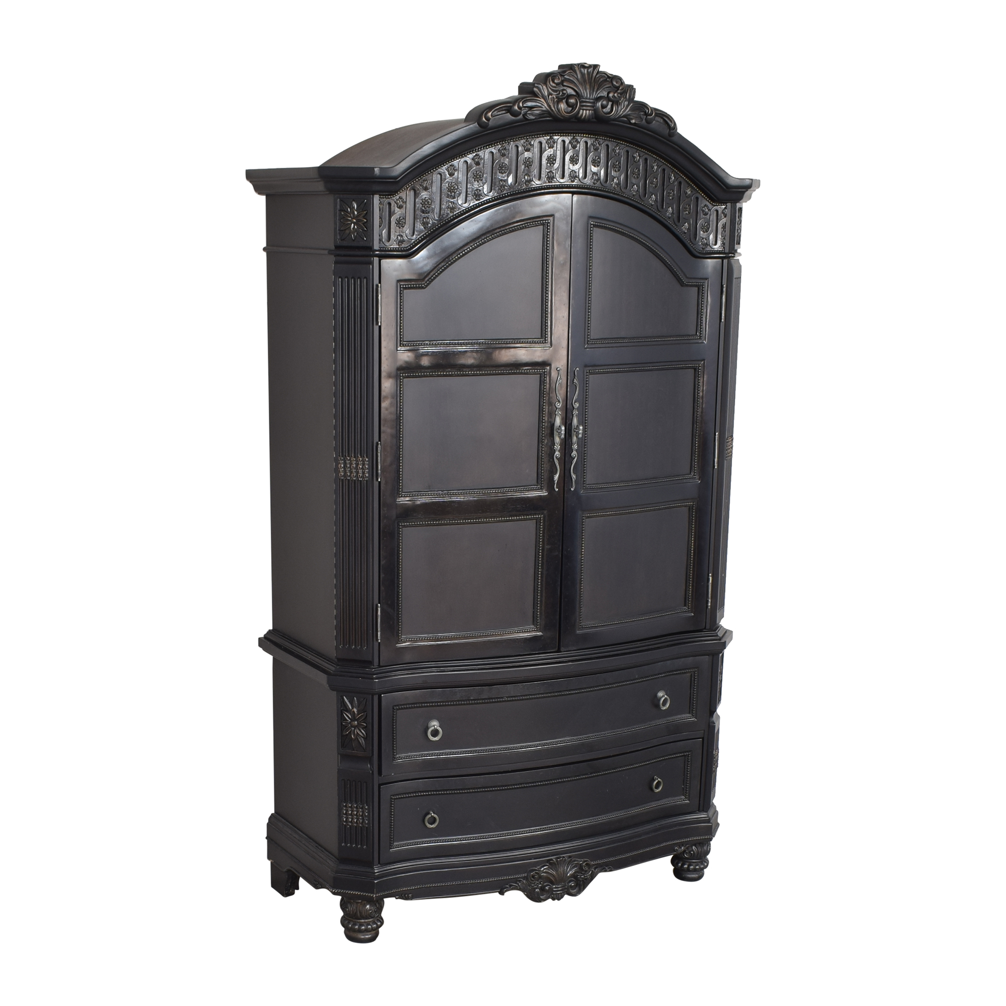 Two Drawer Armoire black