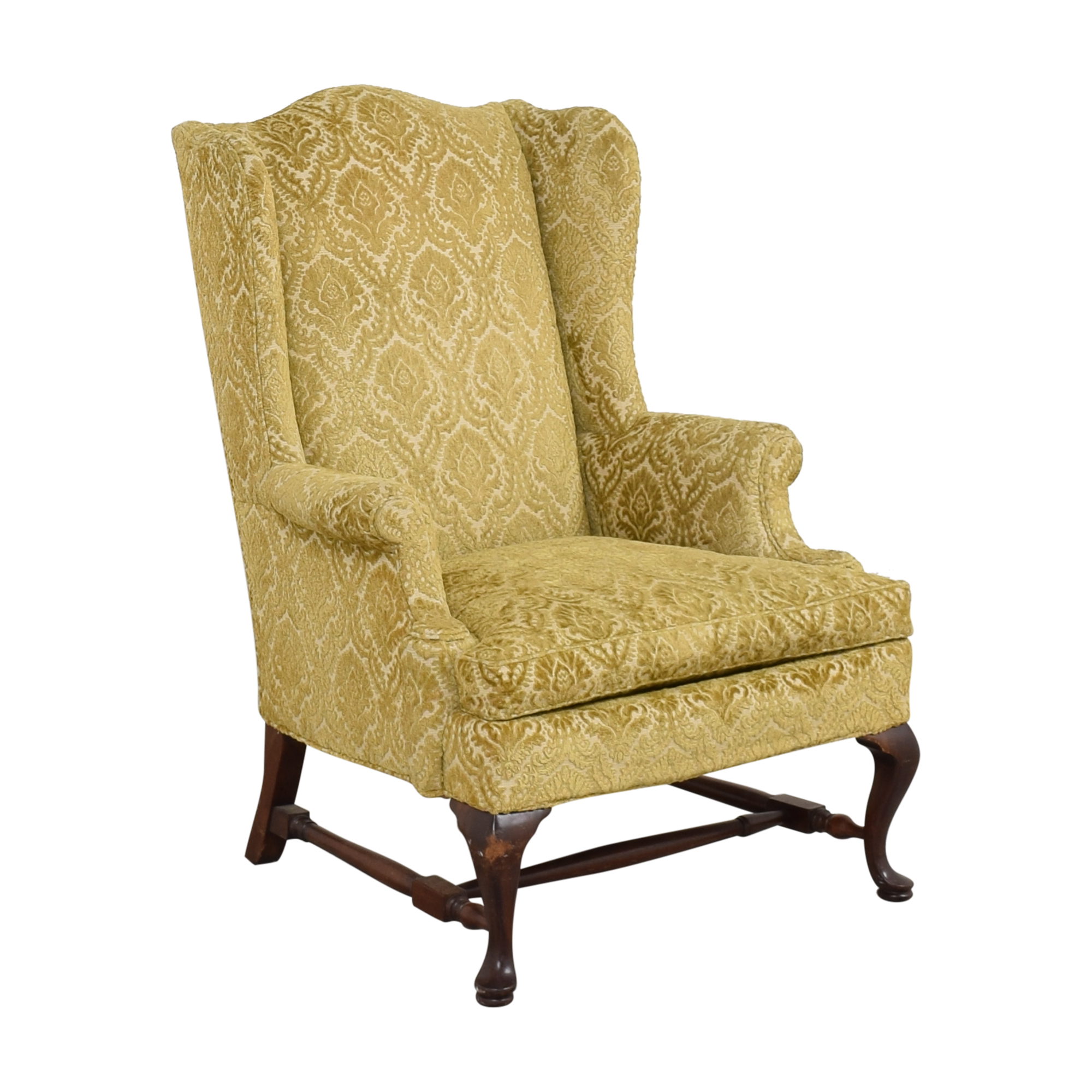 Hickory Chair Queen Anne Wing Back Chair / Accent Chairs
