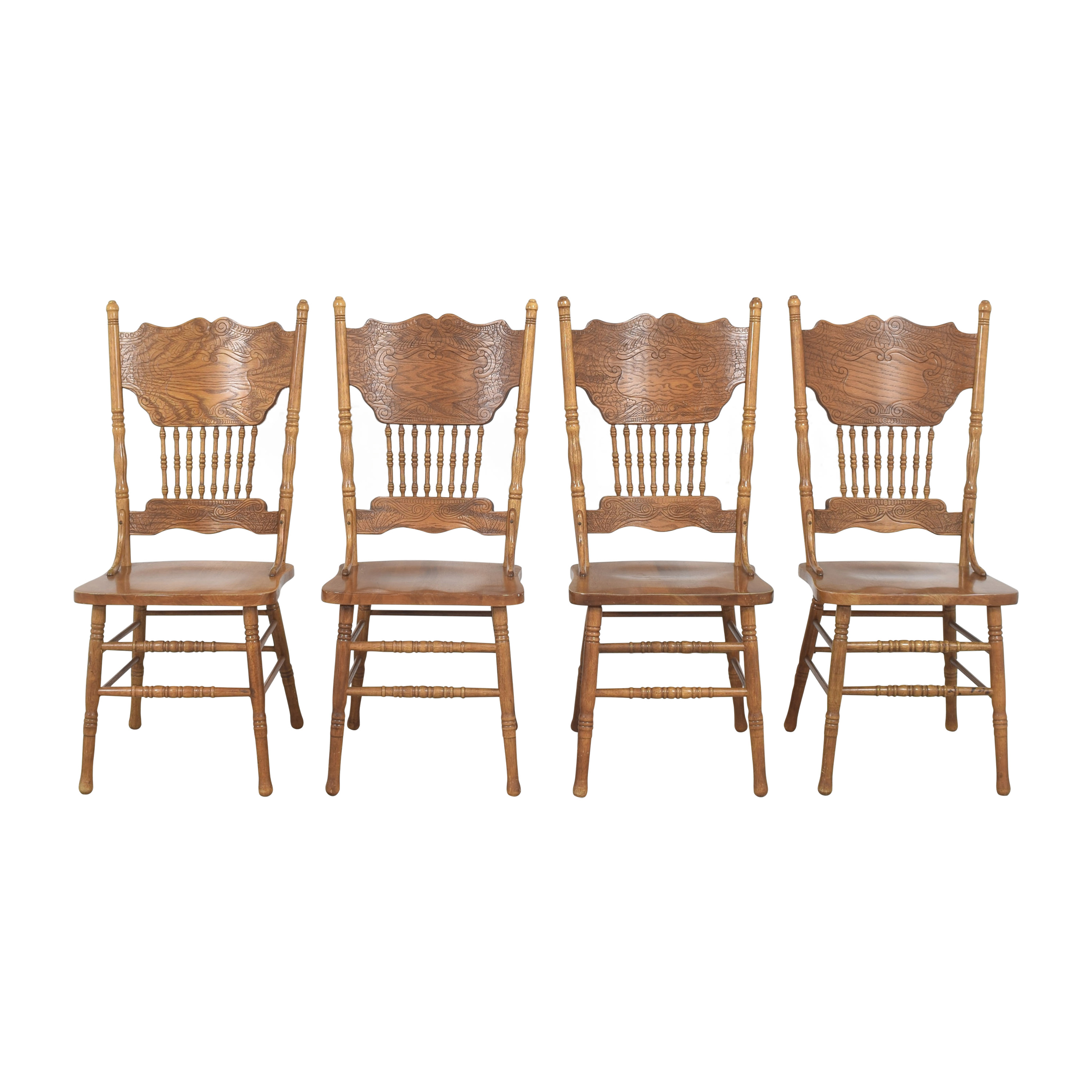 Carved Back Dining Side Chairs pa