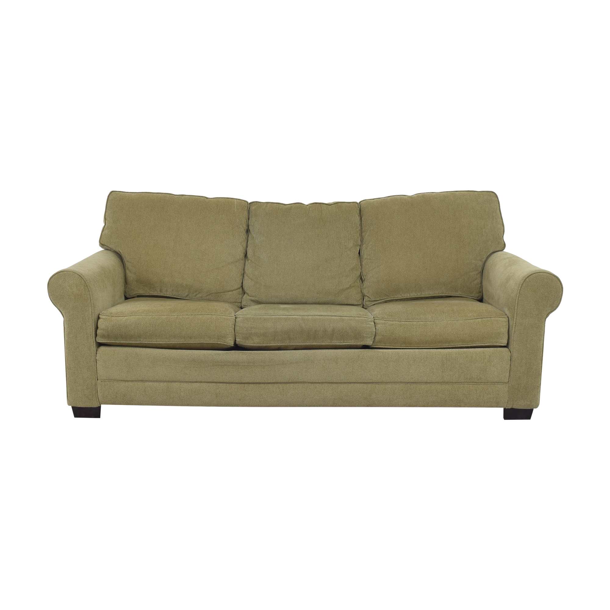 Roll Arm Sleeper Sofa green