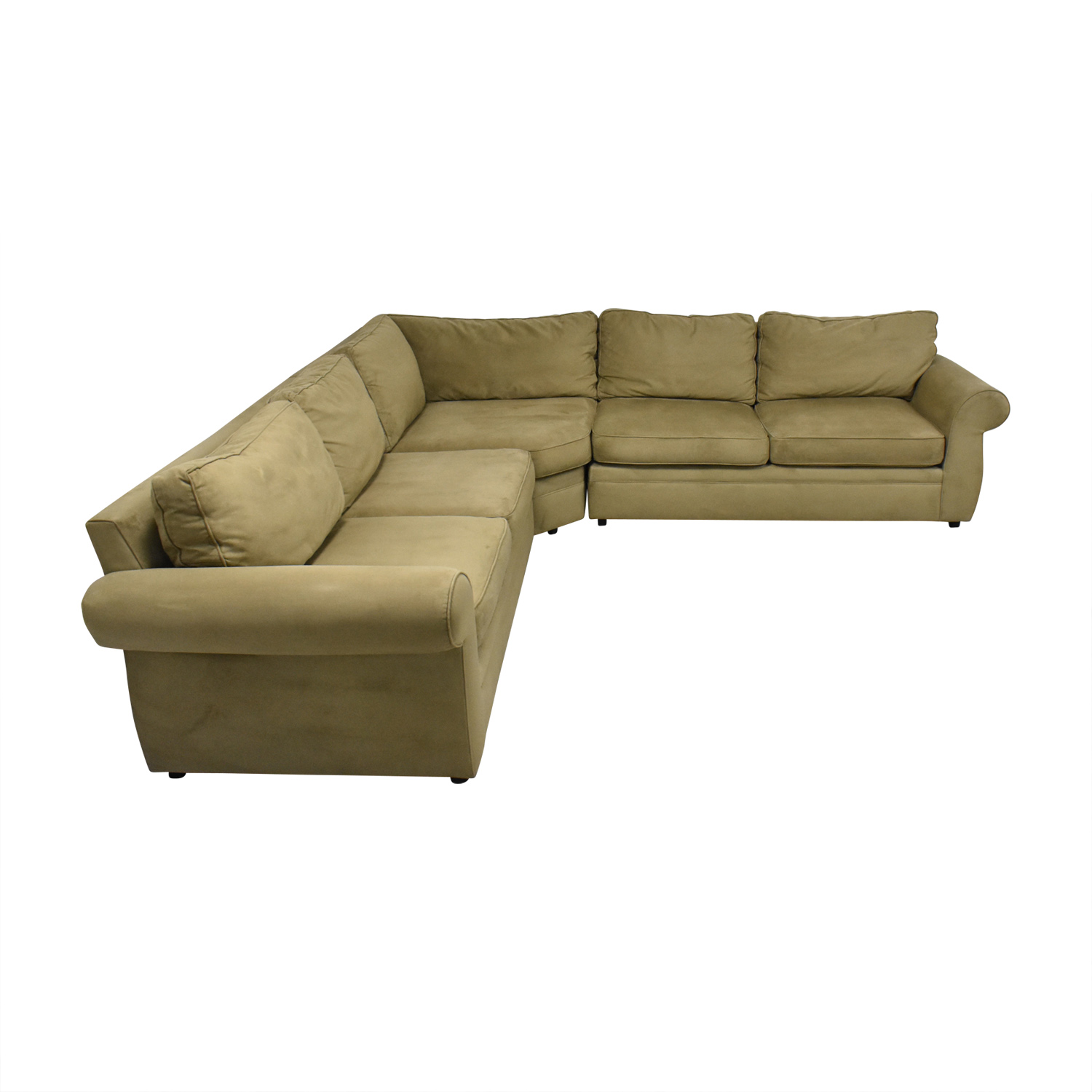 shop Pottery Barn Pearce Roll Arm L Shaped Sectional Sofa Pottery Barn Sectionals