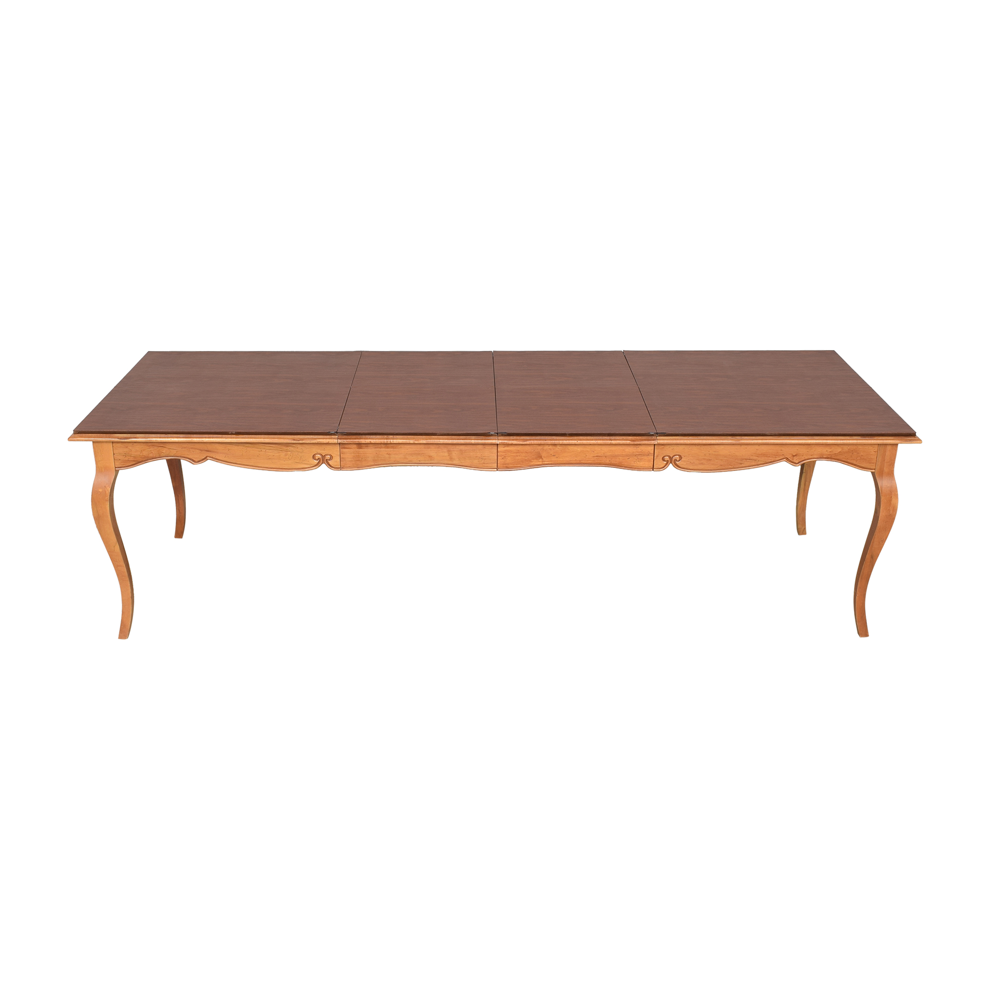 Ethan Allen Ethan Allen Legacy Collection Extendable Dining Table pa