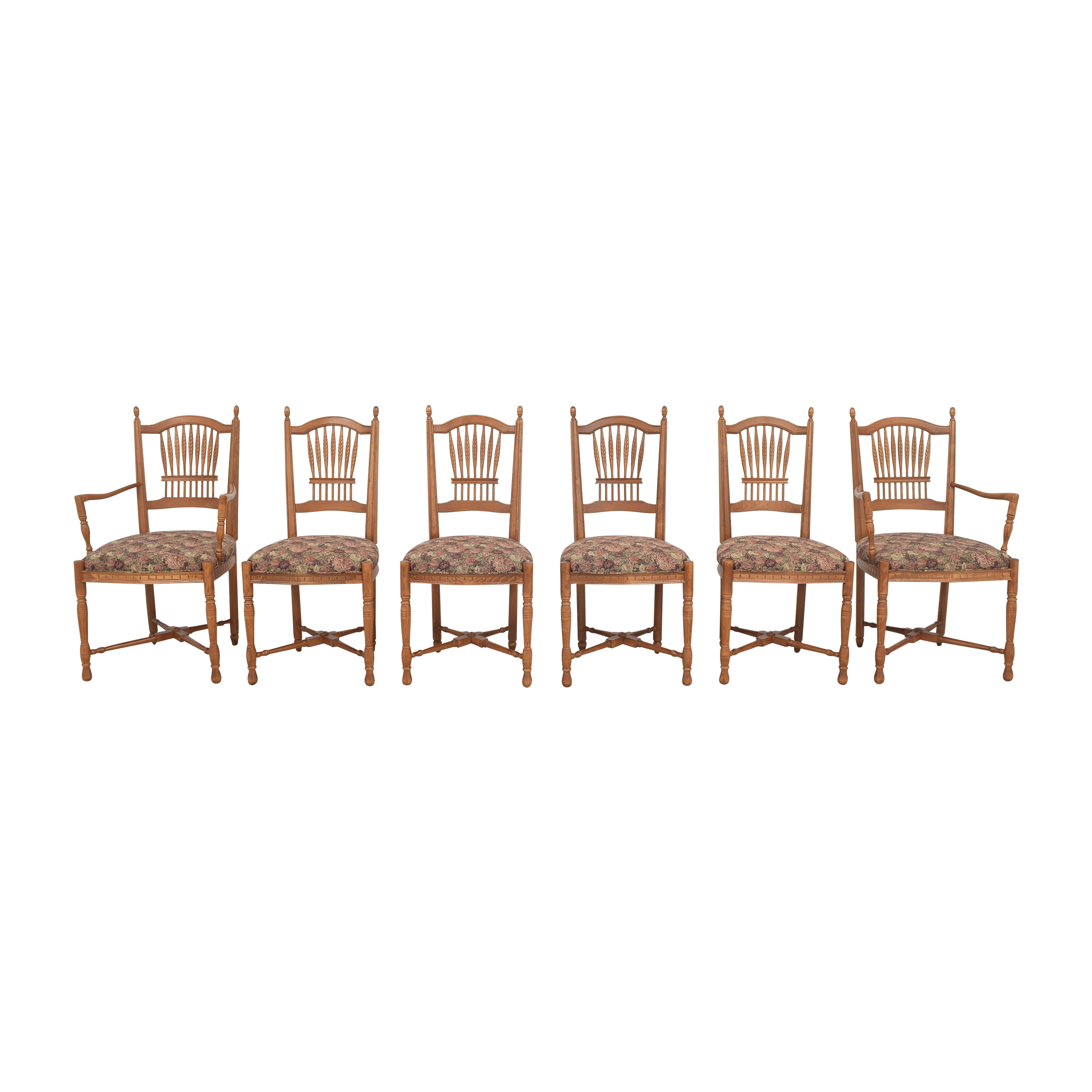 Ethan Allen Wheat Back Dining Chairs Ethan Allen