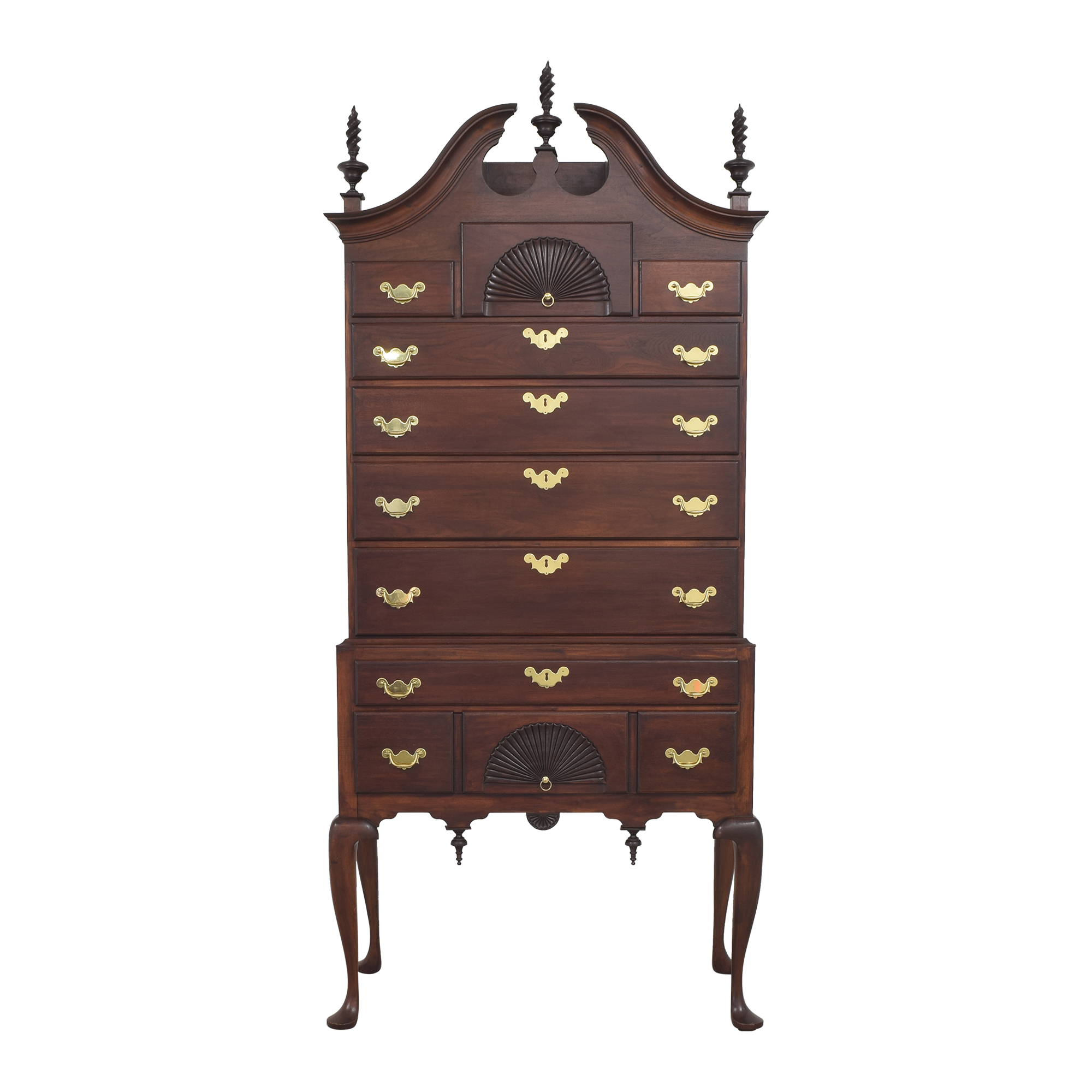 Bartley Classic Reproductions Queen Anne Bonnet Top Highboy / Storage
