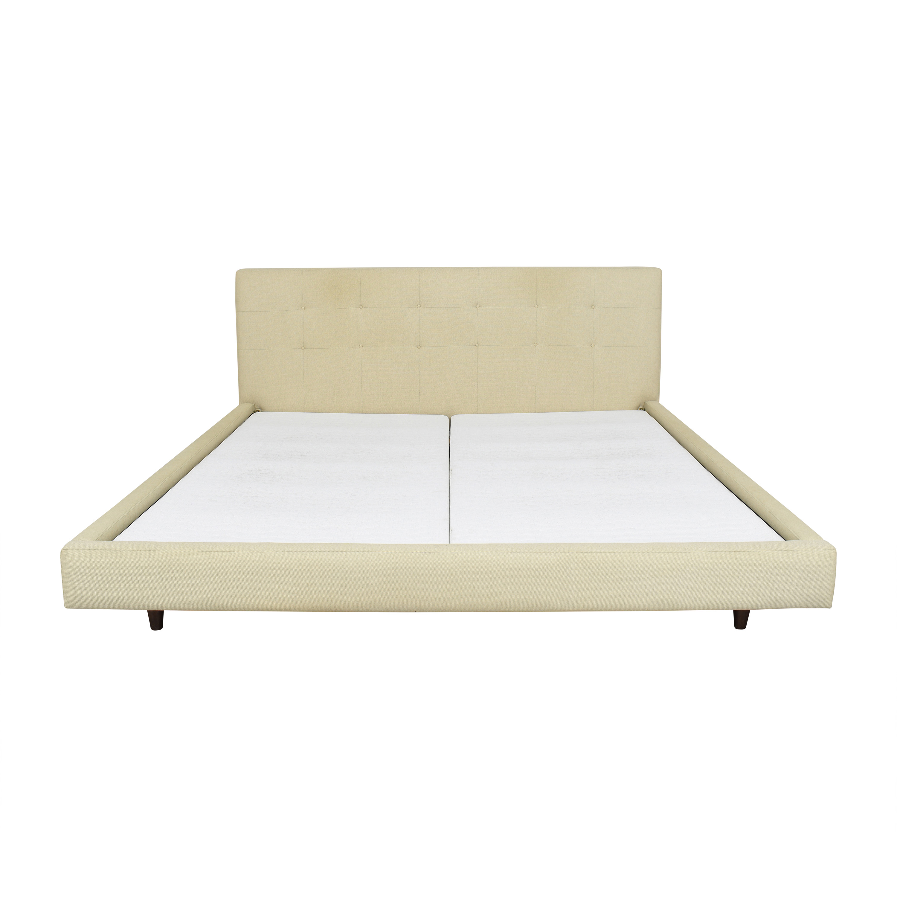 shop Crate & Barrel Tate Upholstered King Bed Crate & Barrel Bed Frames