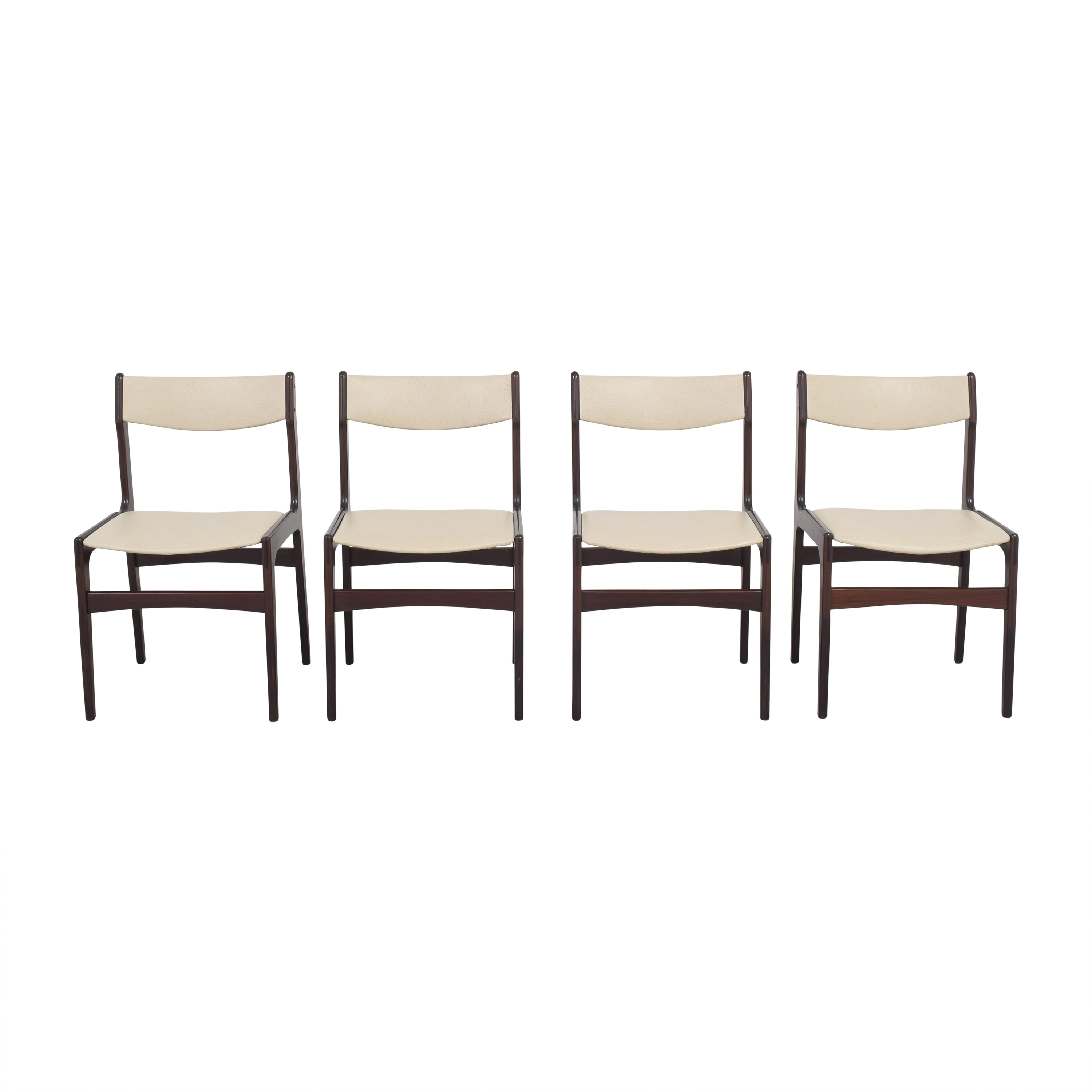 Upholstered Danish-Style Dining Chairs pa