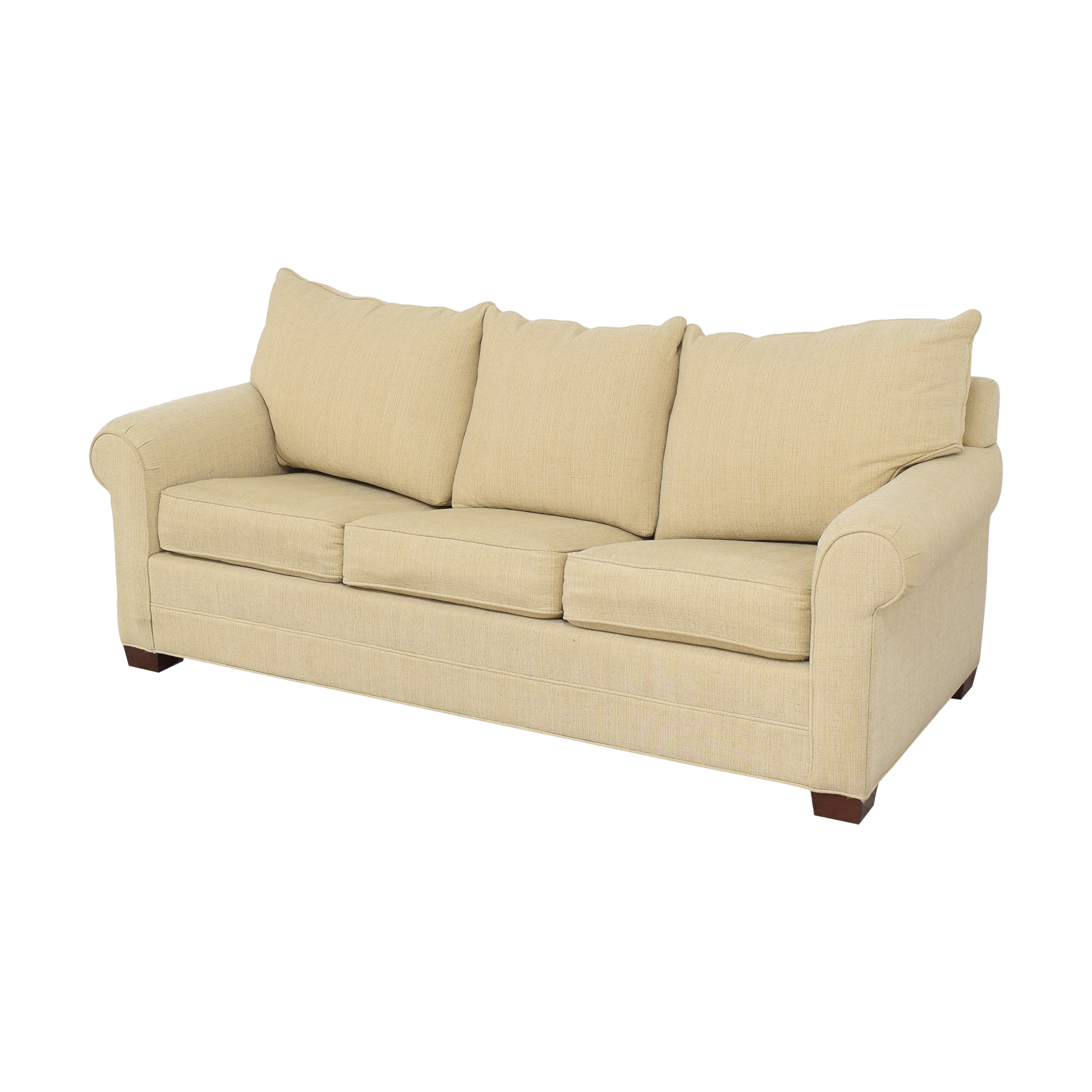 Huntington House Huntington House Roll Arm Sleeper Sofa tan