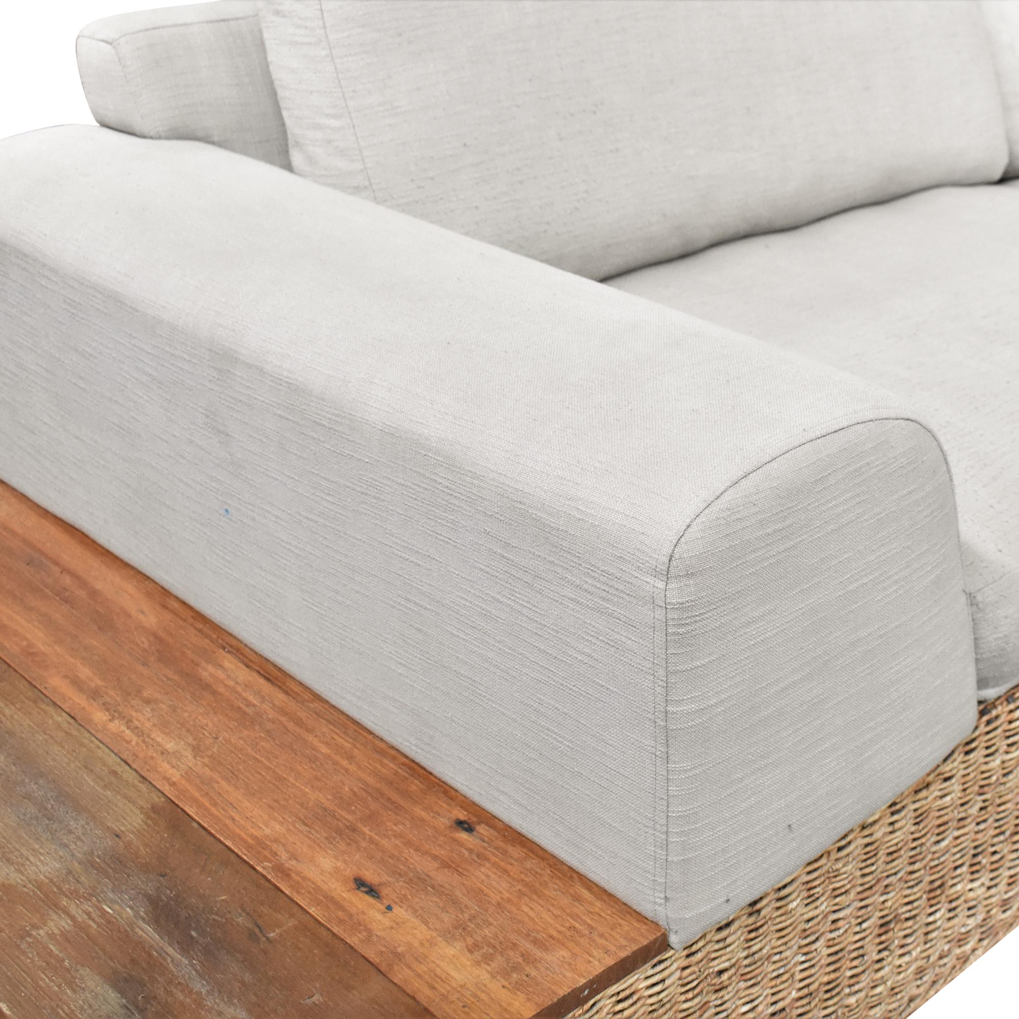 shop Crate & Barrel Hybrid Sofa Crate & Barrel Sofas