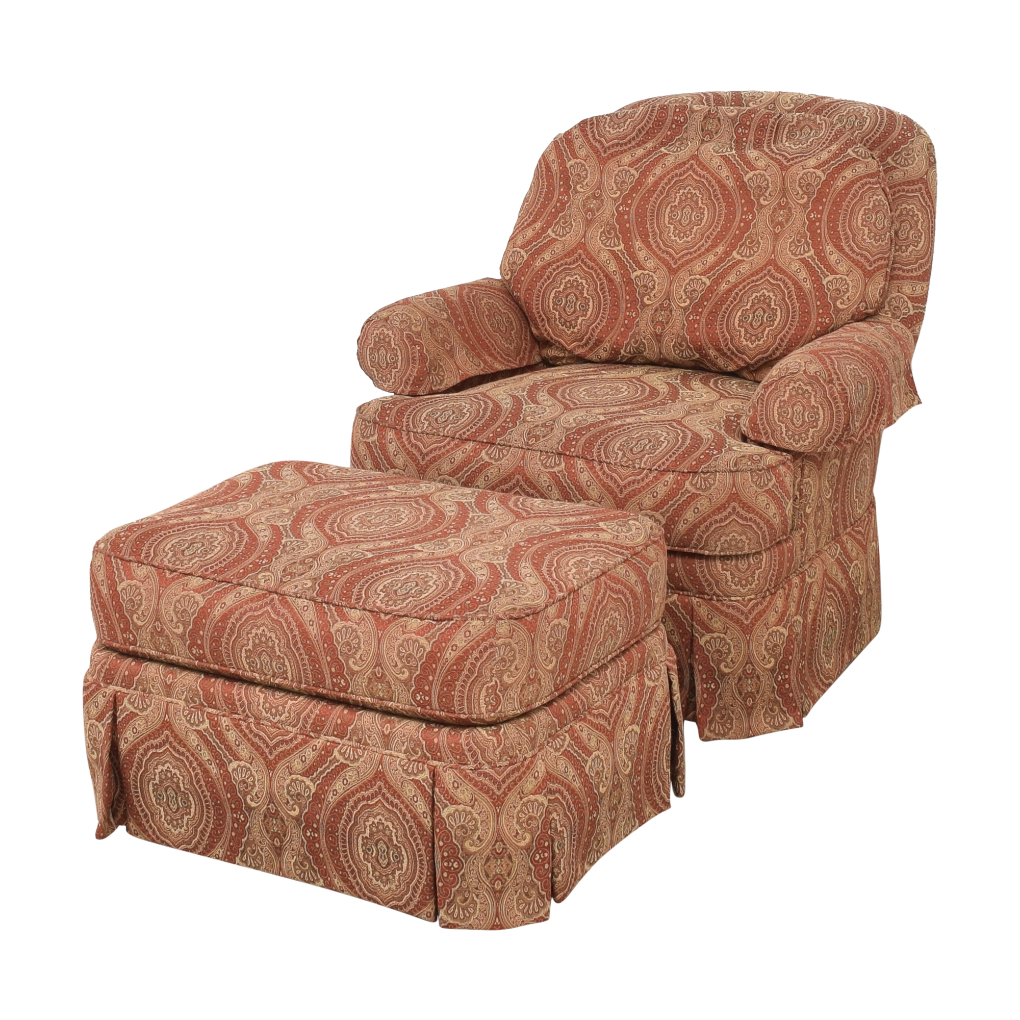 buy Ethan Allen Swivel Chair with Ottoman Ethan Allen Chairs