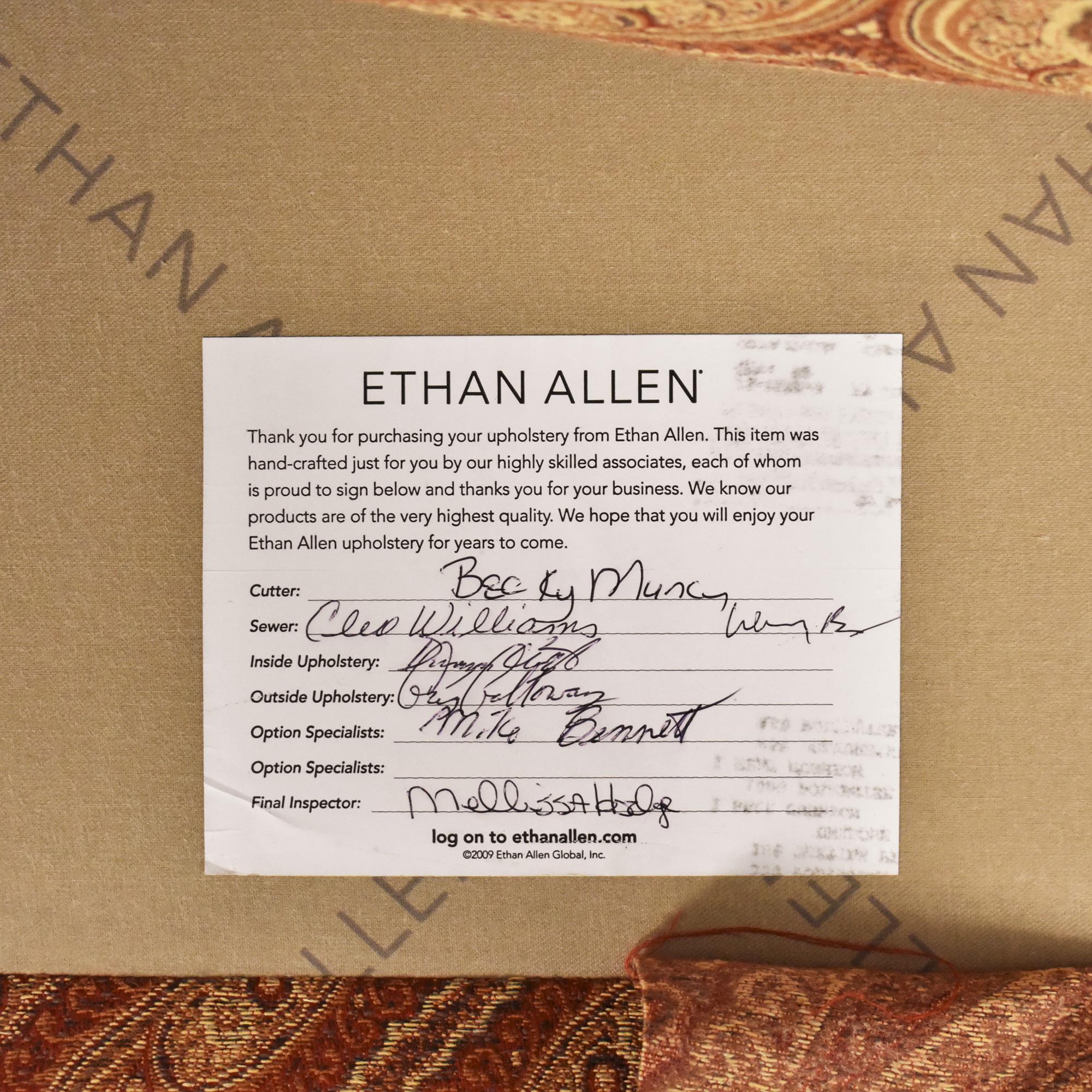 Ethan Allen Ethan Allen Swivel Chair with Ottoman discount