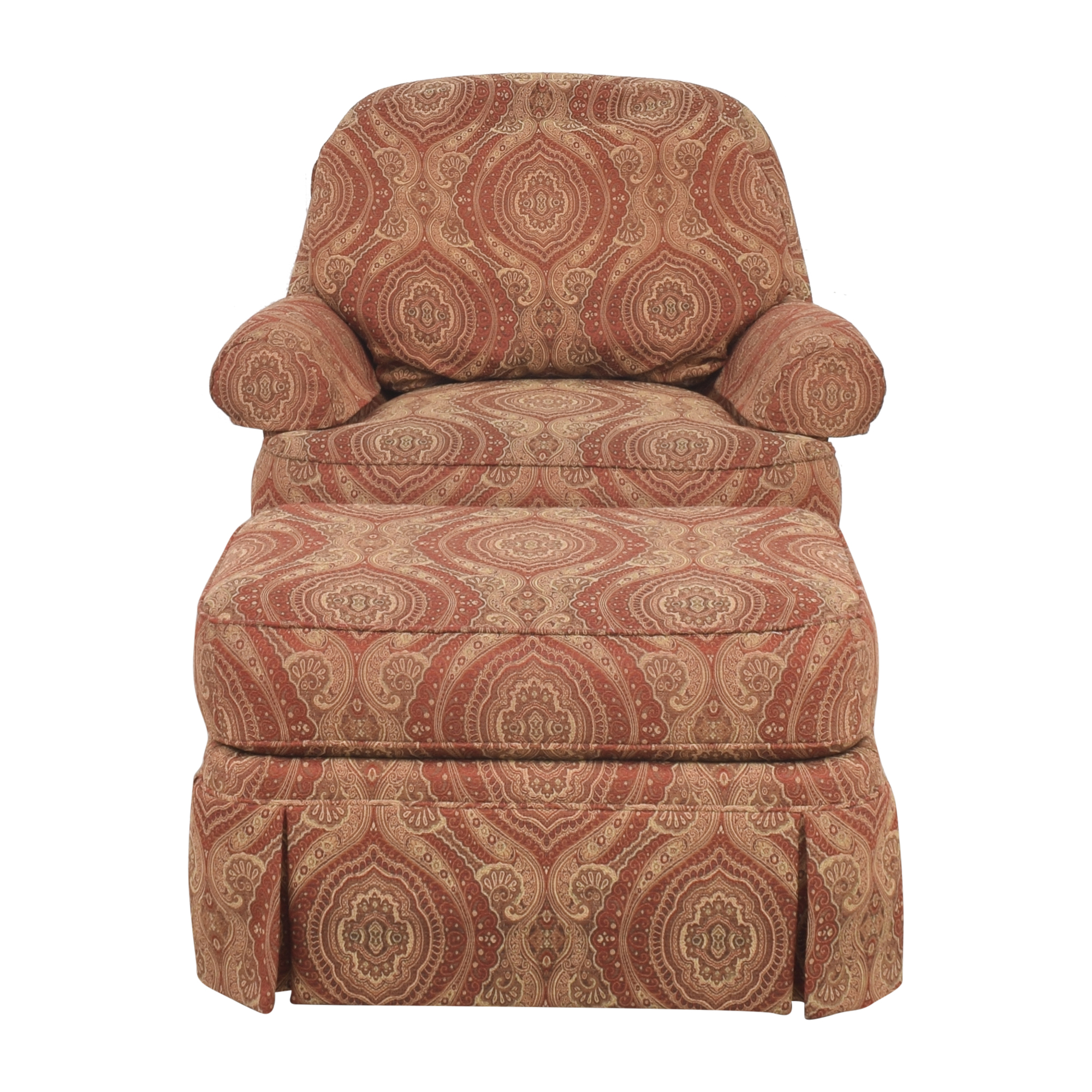 Ethan Allen Ethan Allen Swivel Chair with Ottoman